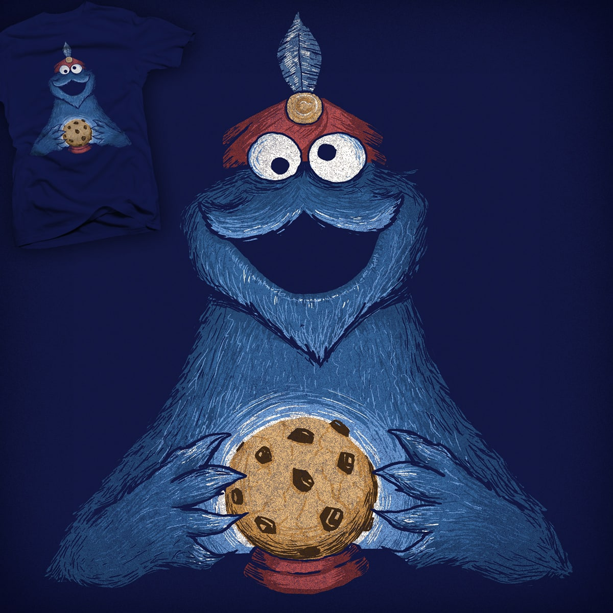 Fortune Cookie Monster by Santo76 on Threadless