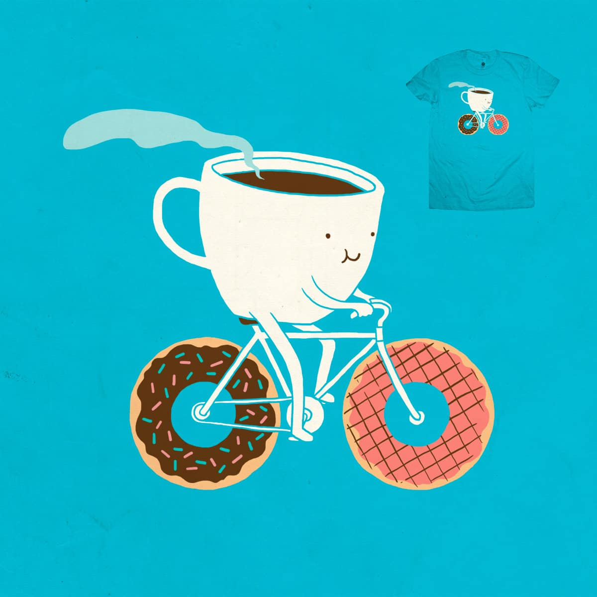 Coffee and Donuts by ilovedoodle on Threadless