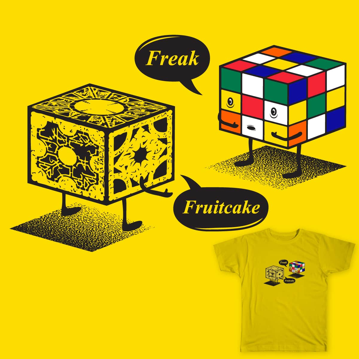 Cube Fight by pd23 on Threadless
