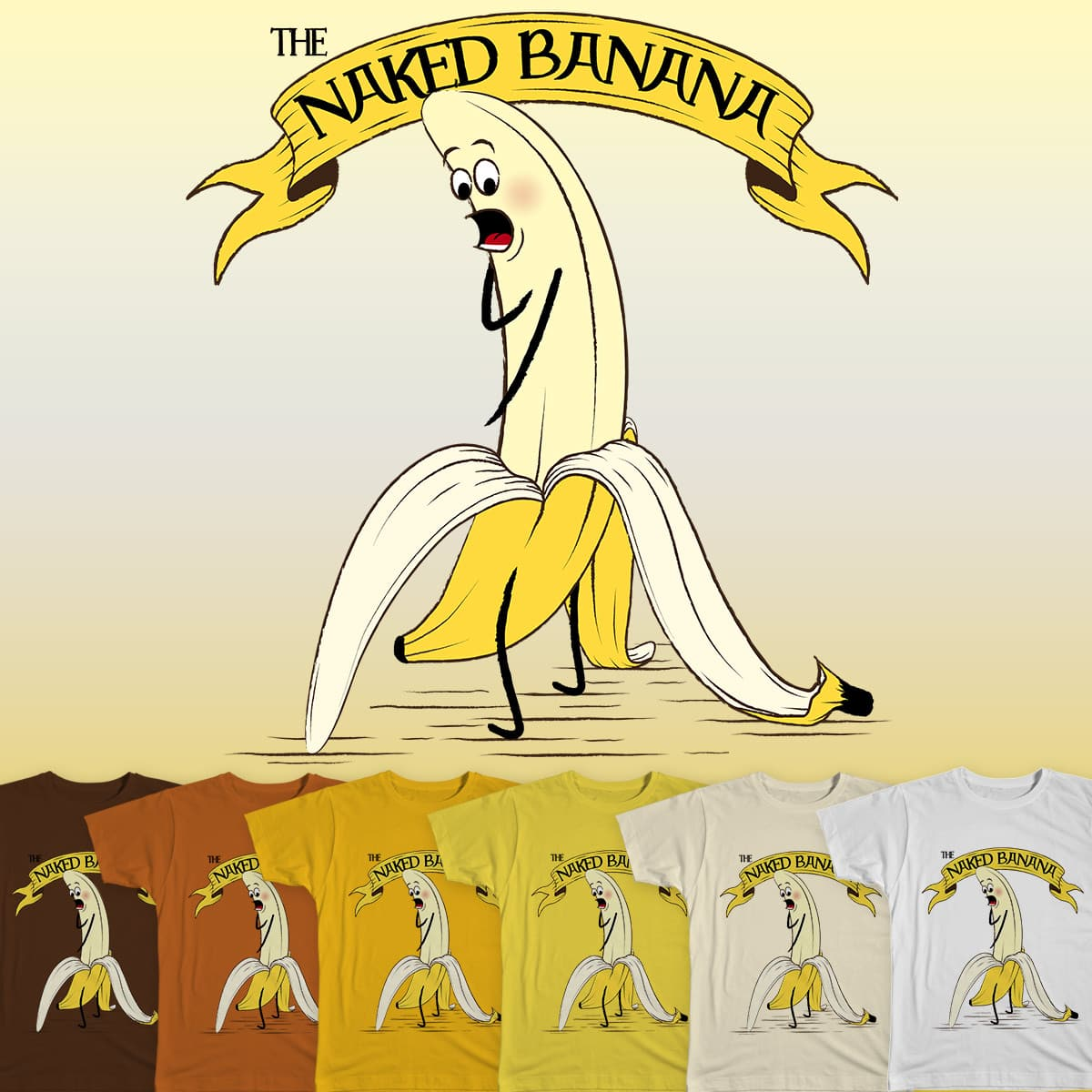 Score The Naked Banana by SwanStarDesigns on Threadless
