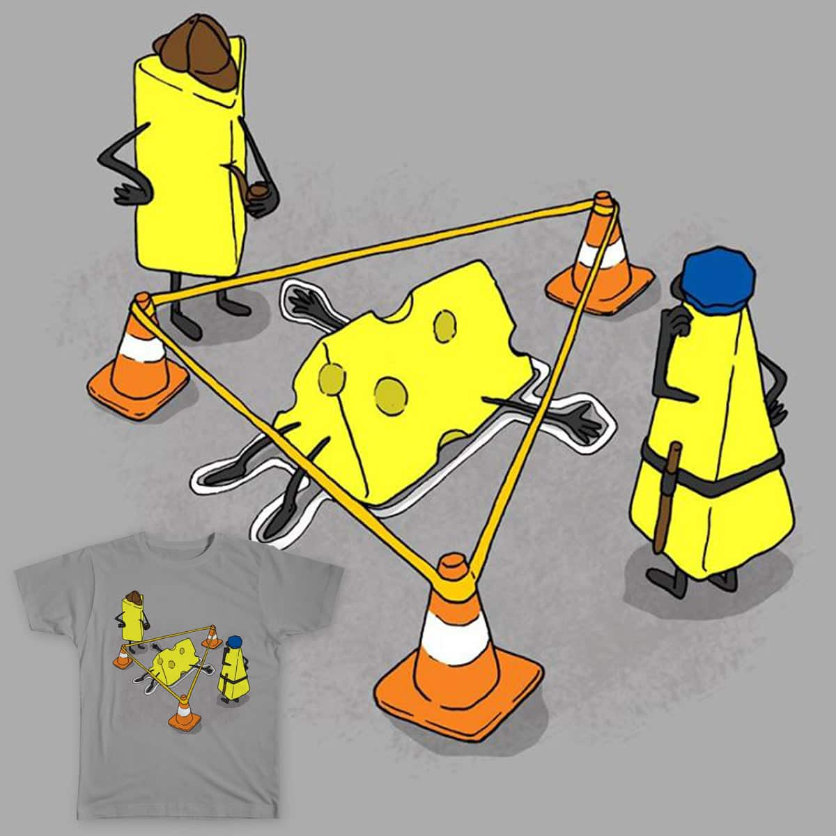 Who killed the cheese?! by Leandro Lima on Threadless