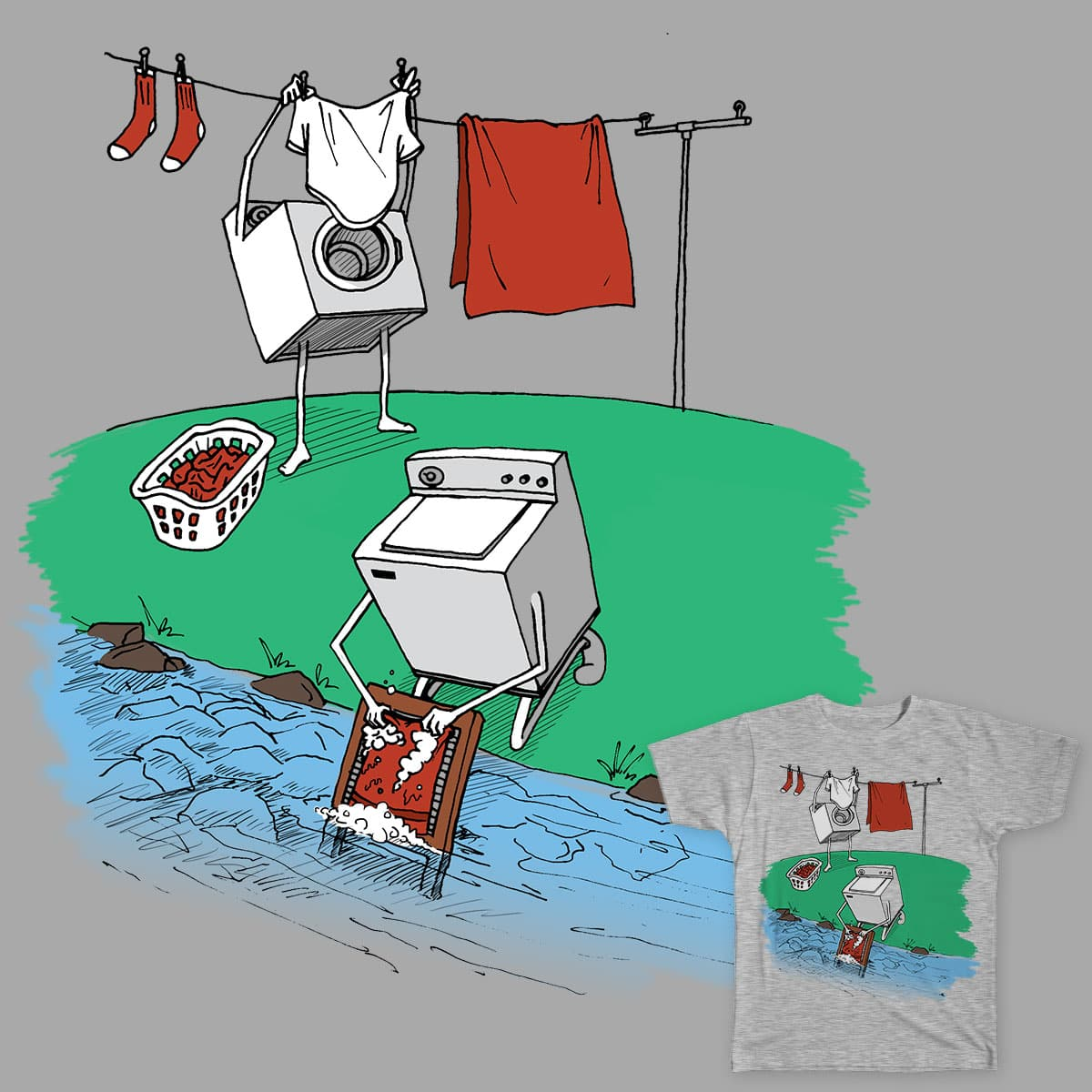 Laundry Day by nganci on Threadless