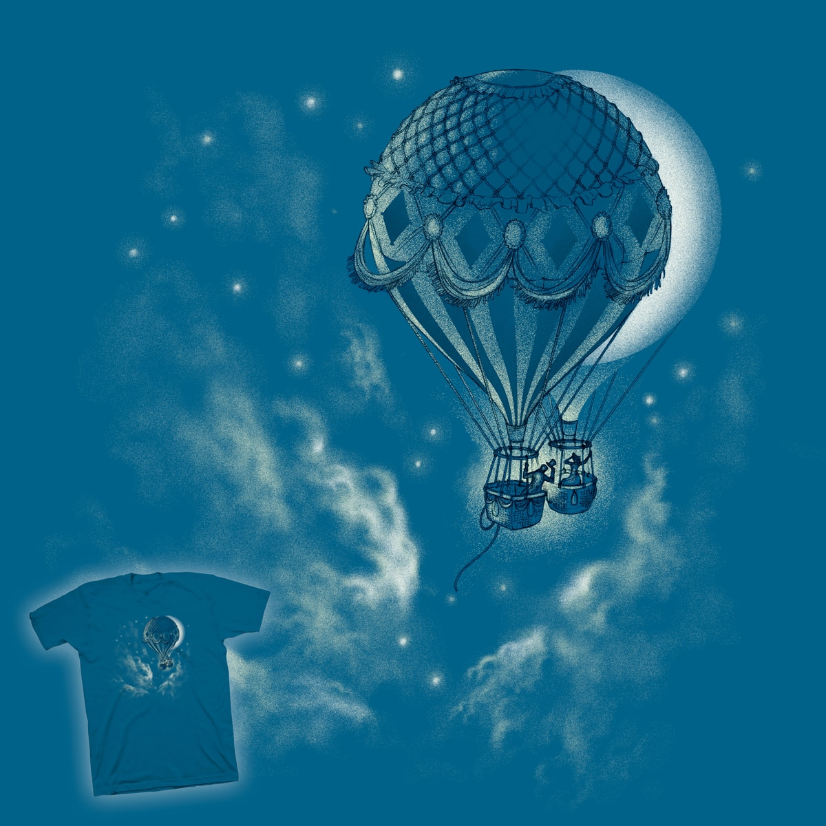 Fly Me to the Moon by ndanzi on Threadless
