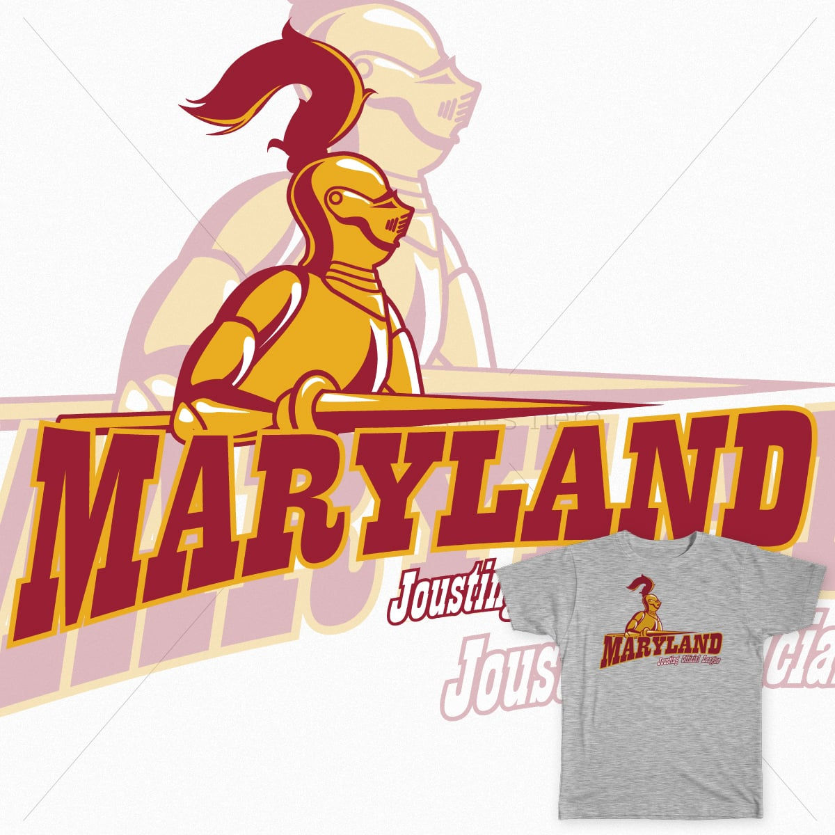 Maryland Official Jousting League by salvatrane on Threadless