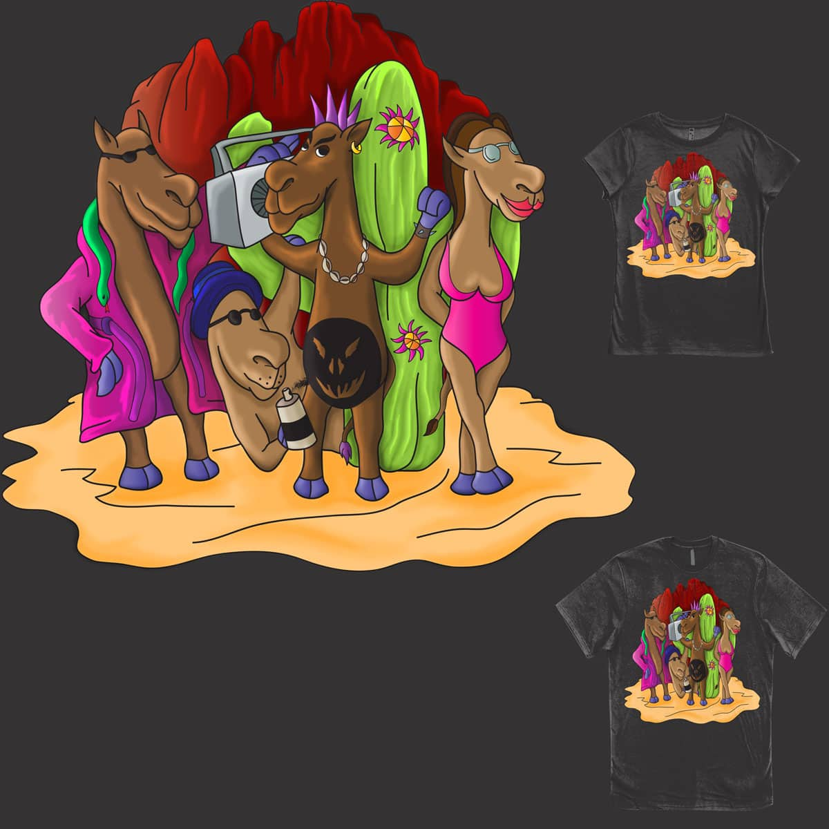 Funky Wild Camels by BobyBrad on Threadless