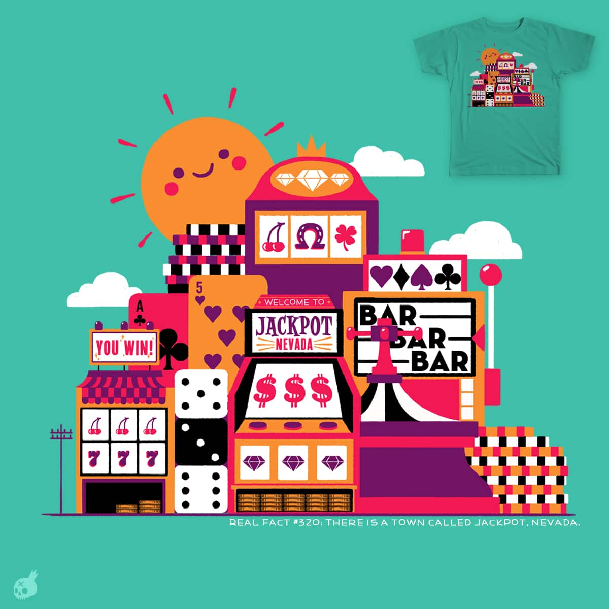Jackpot City by Poguish on Threadless