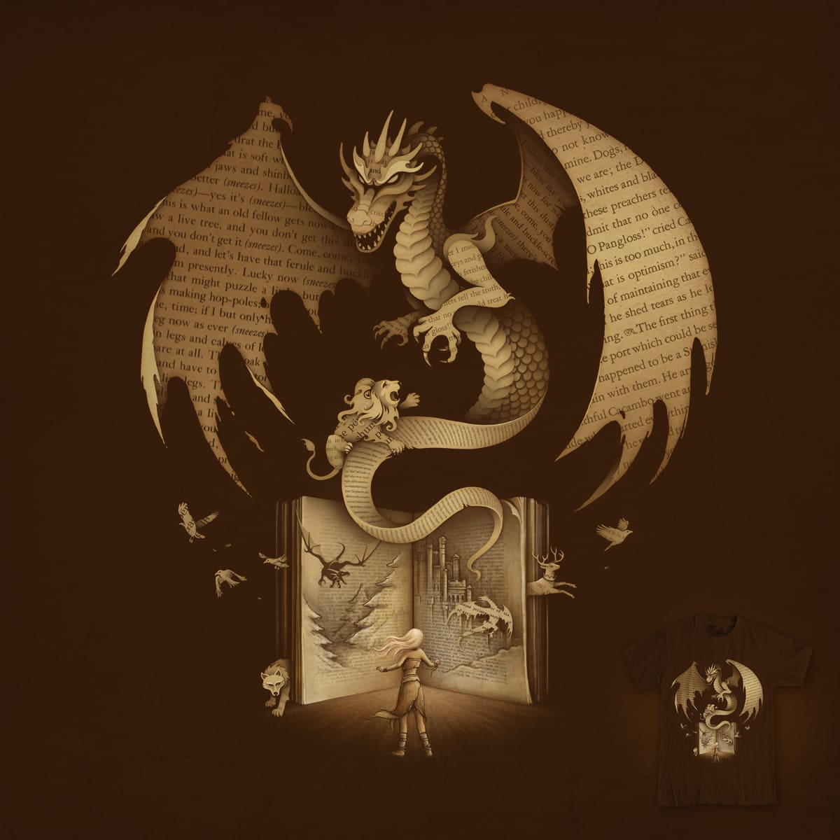 The Mysterious Game of the Throne by buko on Threadless