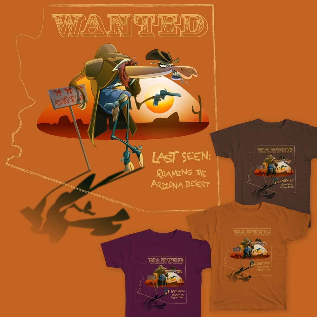 Wanted: Wild Camel by Kiracatures on Threadless