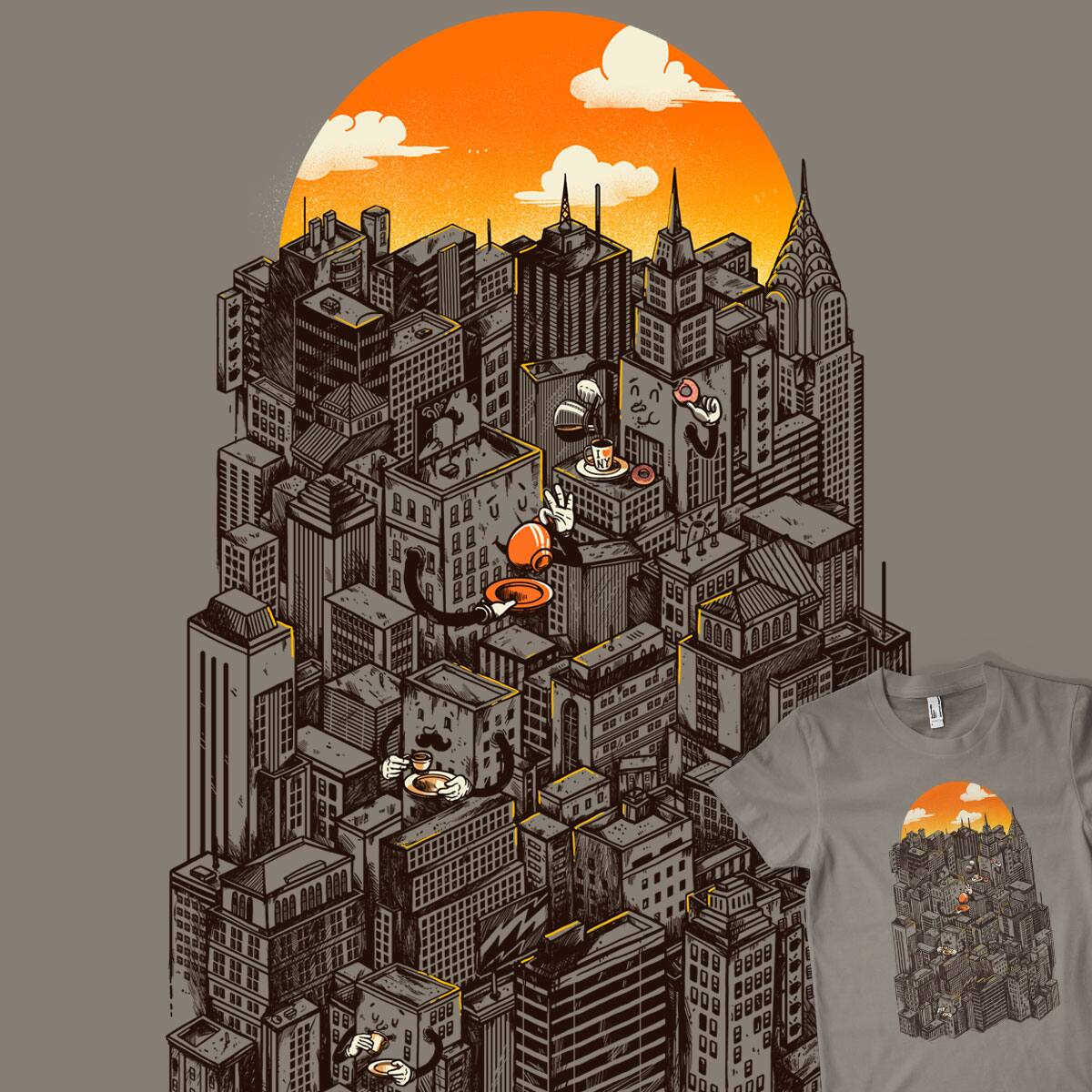 The City That Never Sleeps takes a break by MadKobra on Threadless