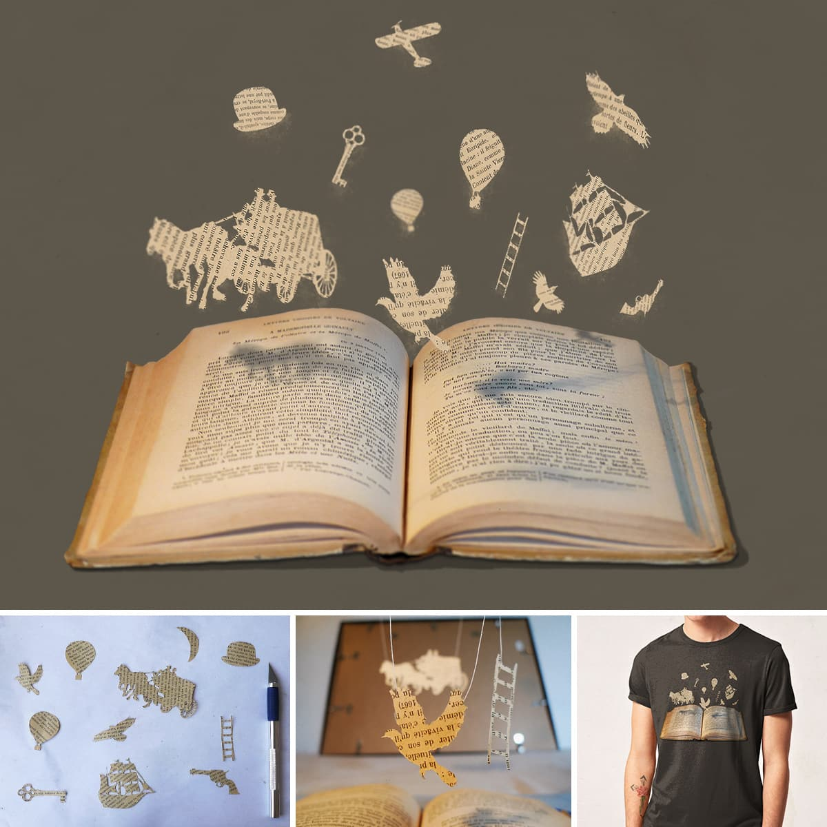 Words Take Flight by speakerine on Threadless