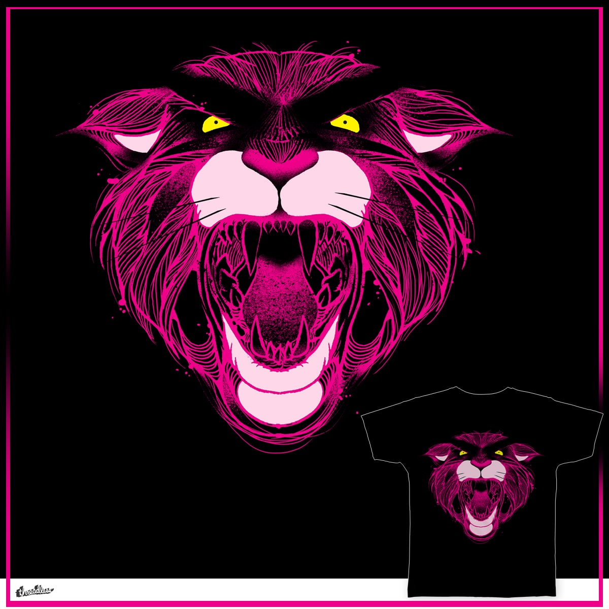 The Pink Panther by anwarrafiee on Threadless