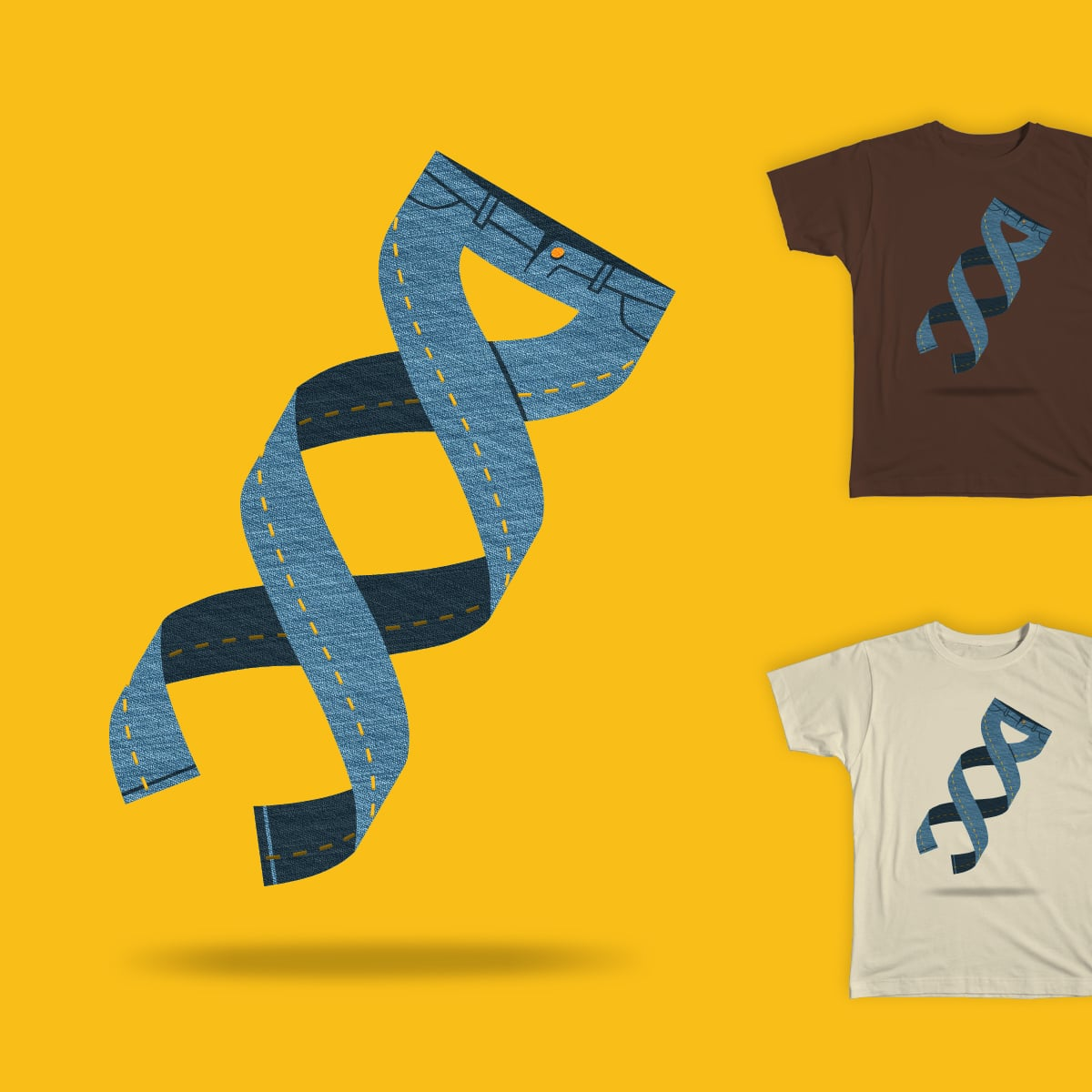 Blue Genes by ALEJANDR0ID on Threadless