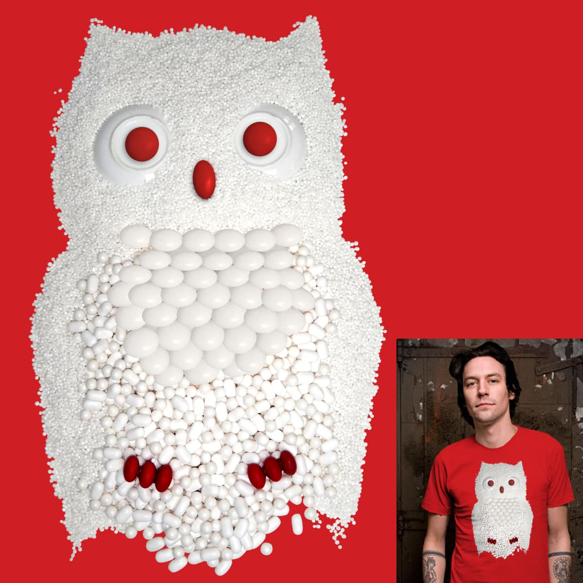 Candy Owl! by ivejustquitsmoking on Threadless