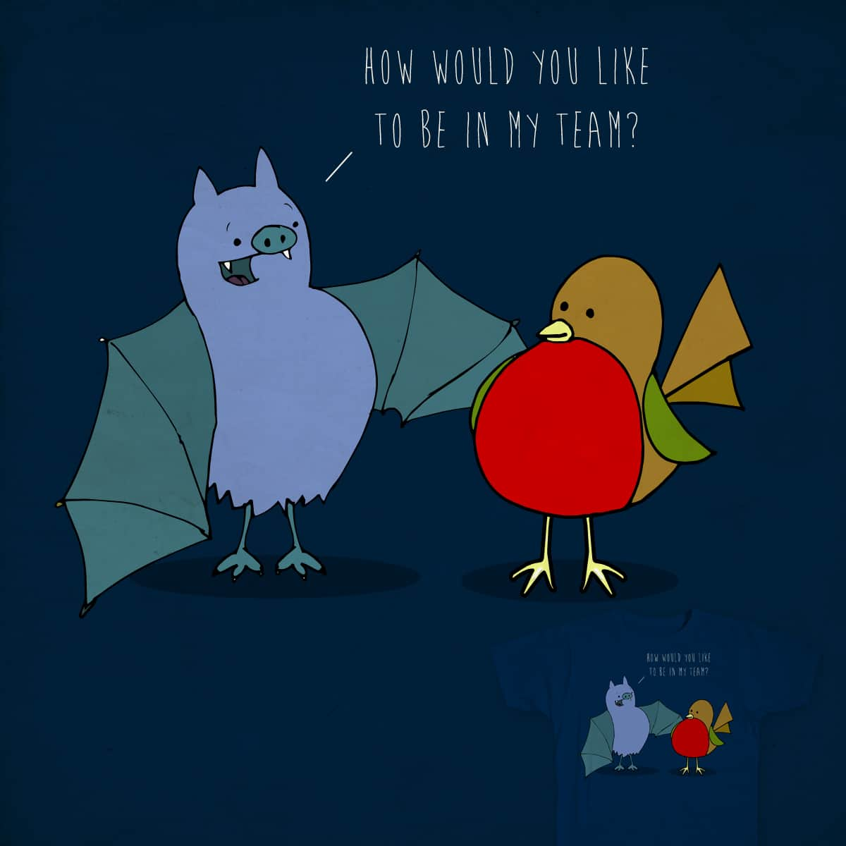 An unlikely duo by dyljos on Threadless