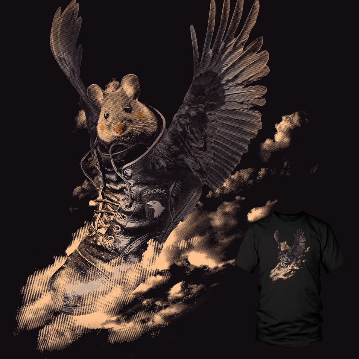 Flying Mouse by StevenT on Threadless