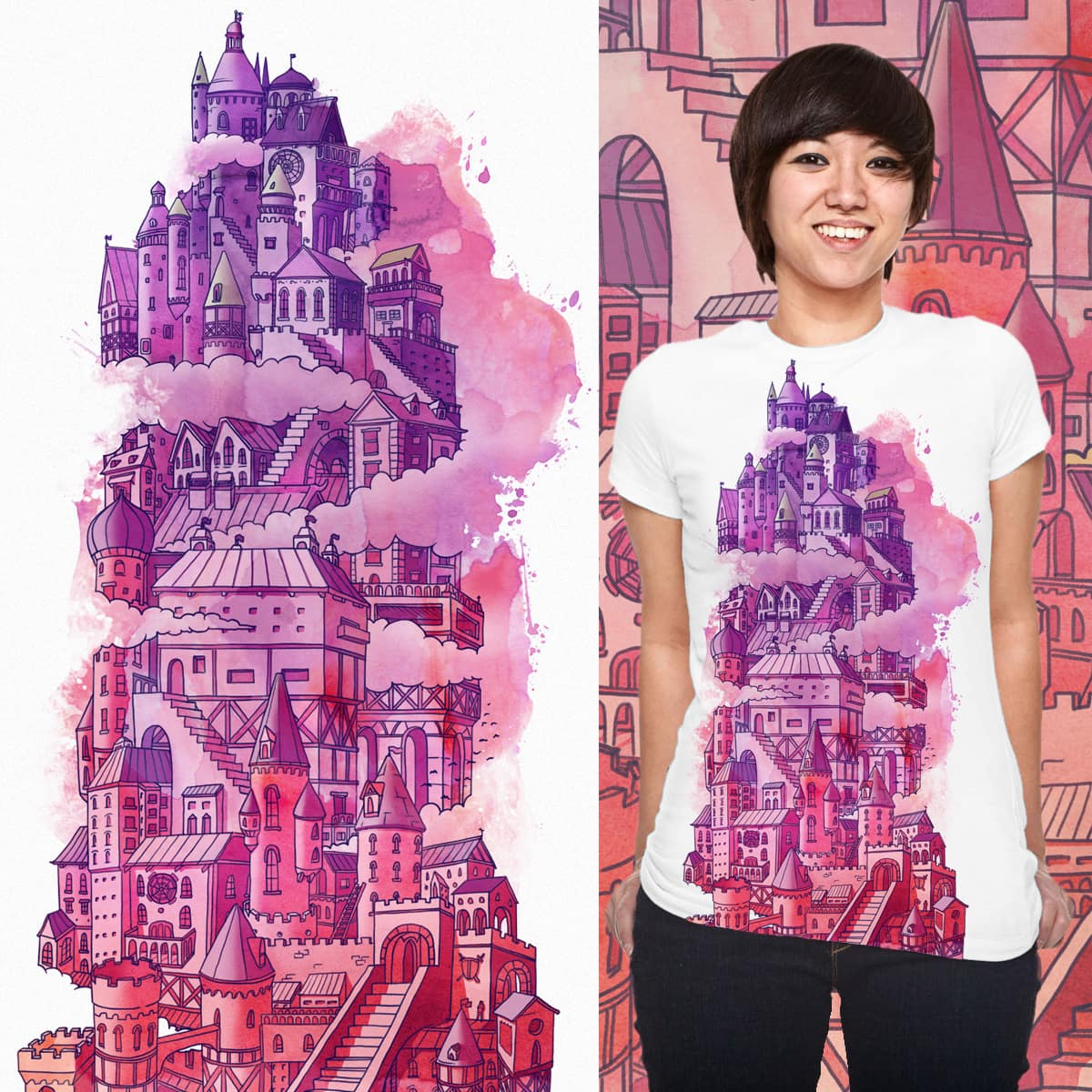 Cloud castle by Quequito on Threadless
