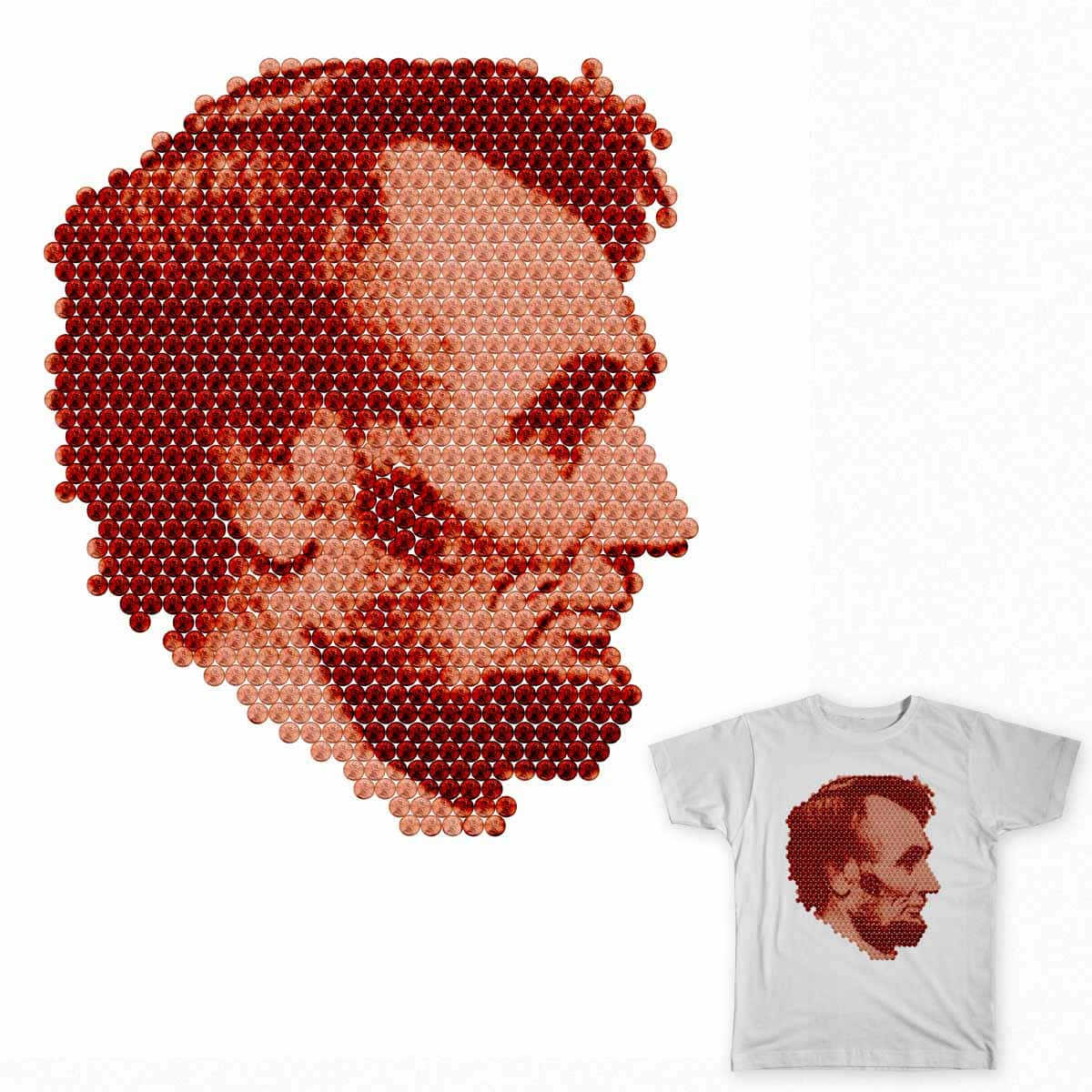 Abraham Penny by robthebarber7 on Threadless