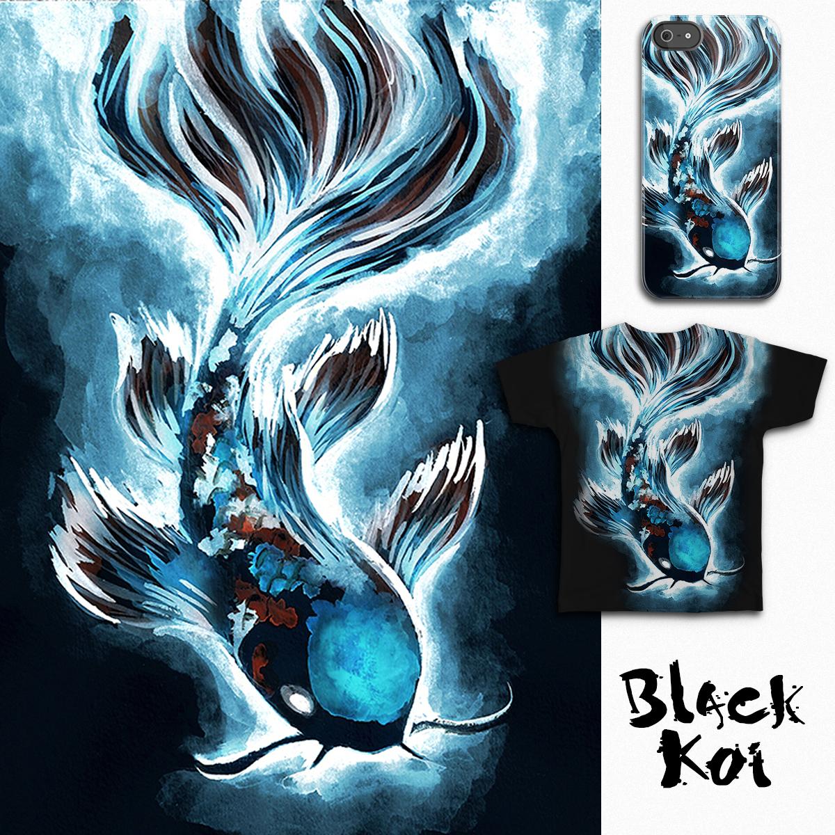 Black Koi by Gneiss on Threadless