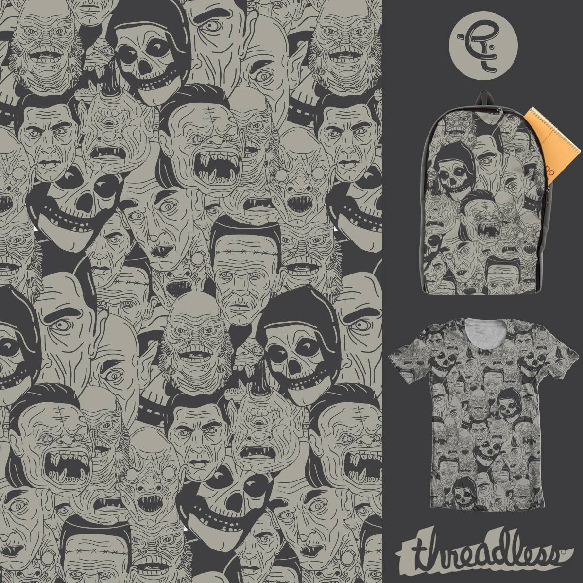 """""""Famous Monsters"""" by CHRIS.RW on Threadless"""