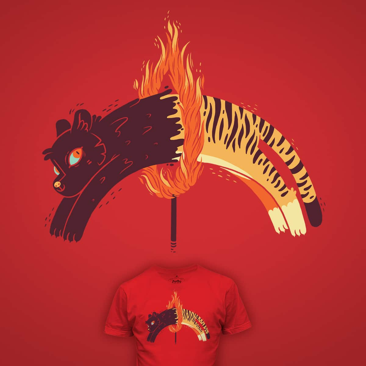 Pouncing Through Fire by TheInfamousBaka on Threadless