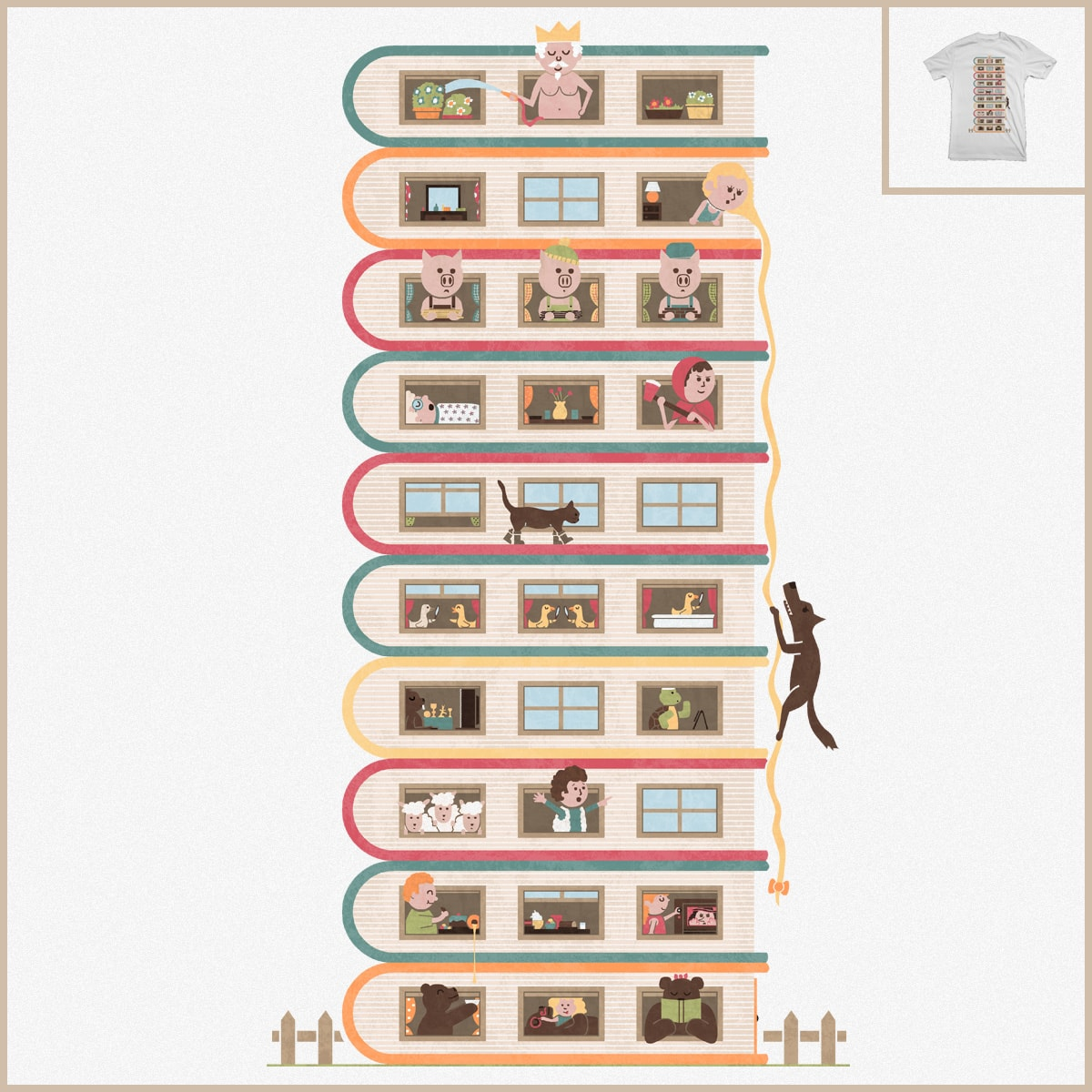 10 Stories High by TeoZ on Threadless