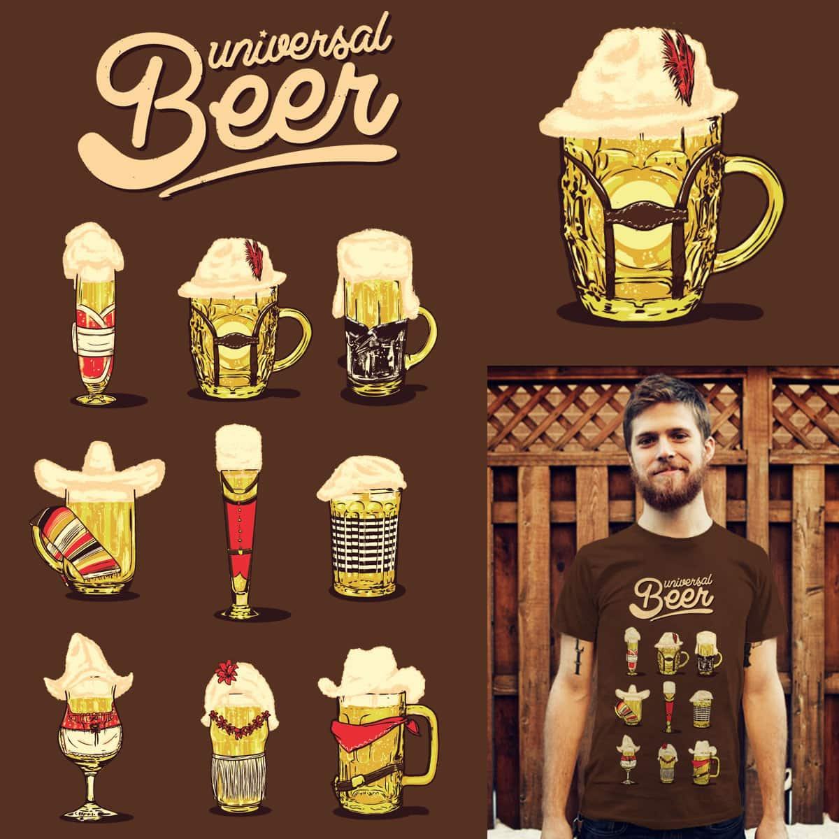 Universal Beer by eQuivalent and yoshi andrian on Threadless