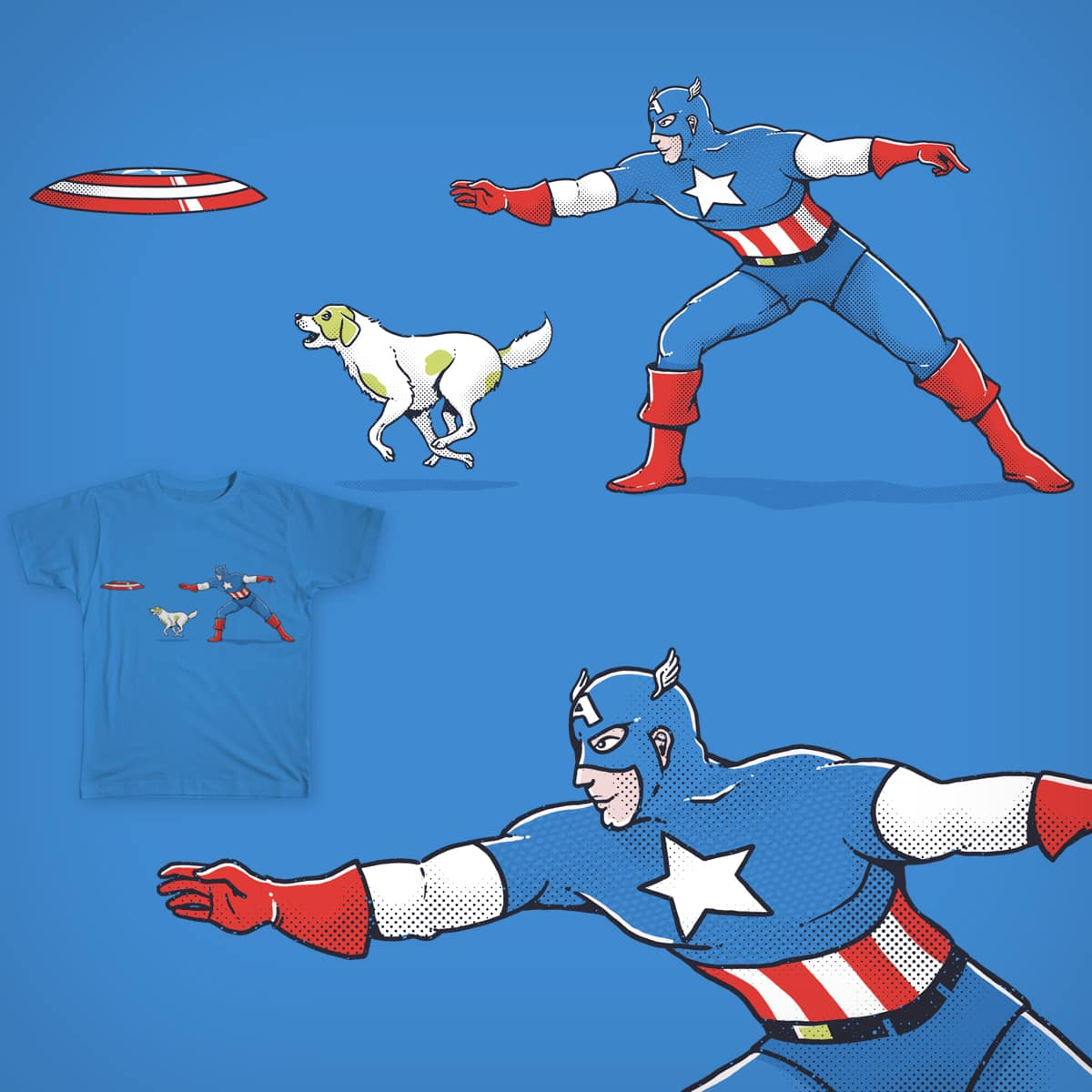 Captain America: Dog Lover by yortsiraulo on Threadless
