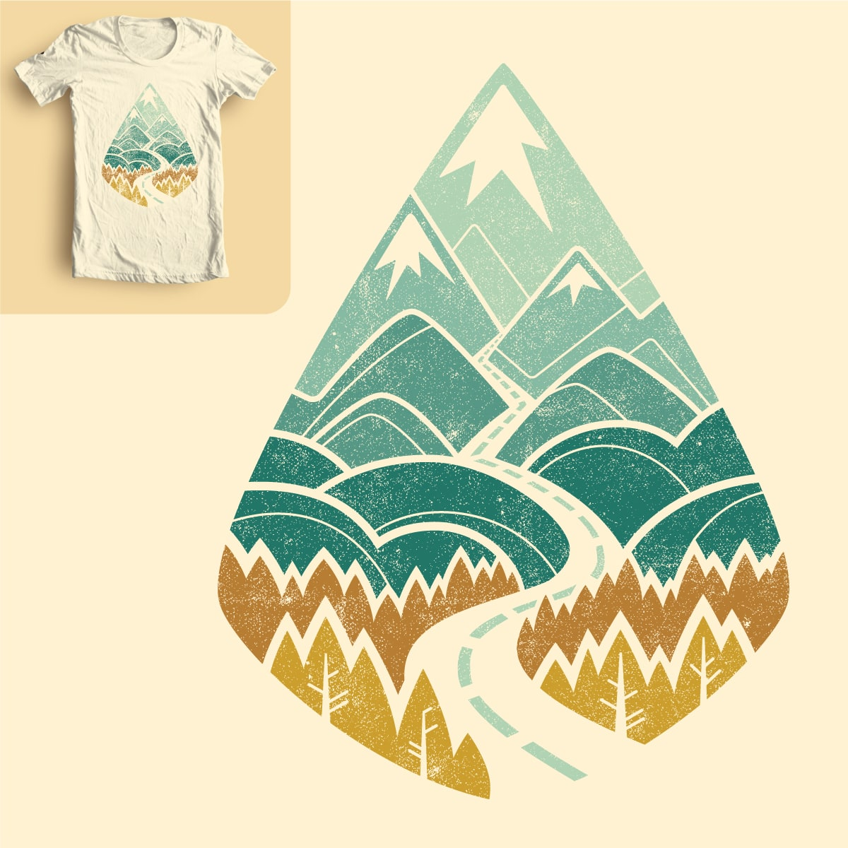 The road goes ever on. by waynem on Threadless