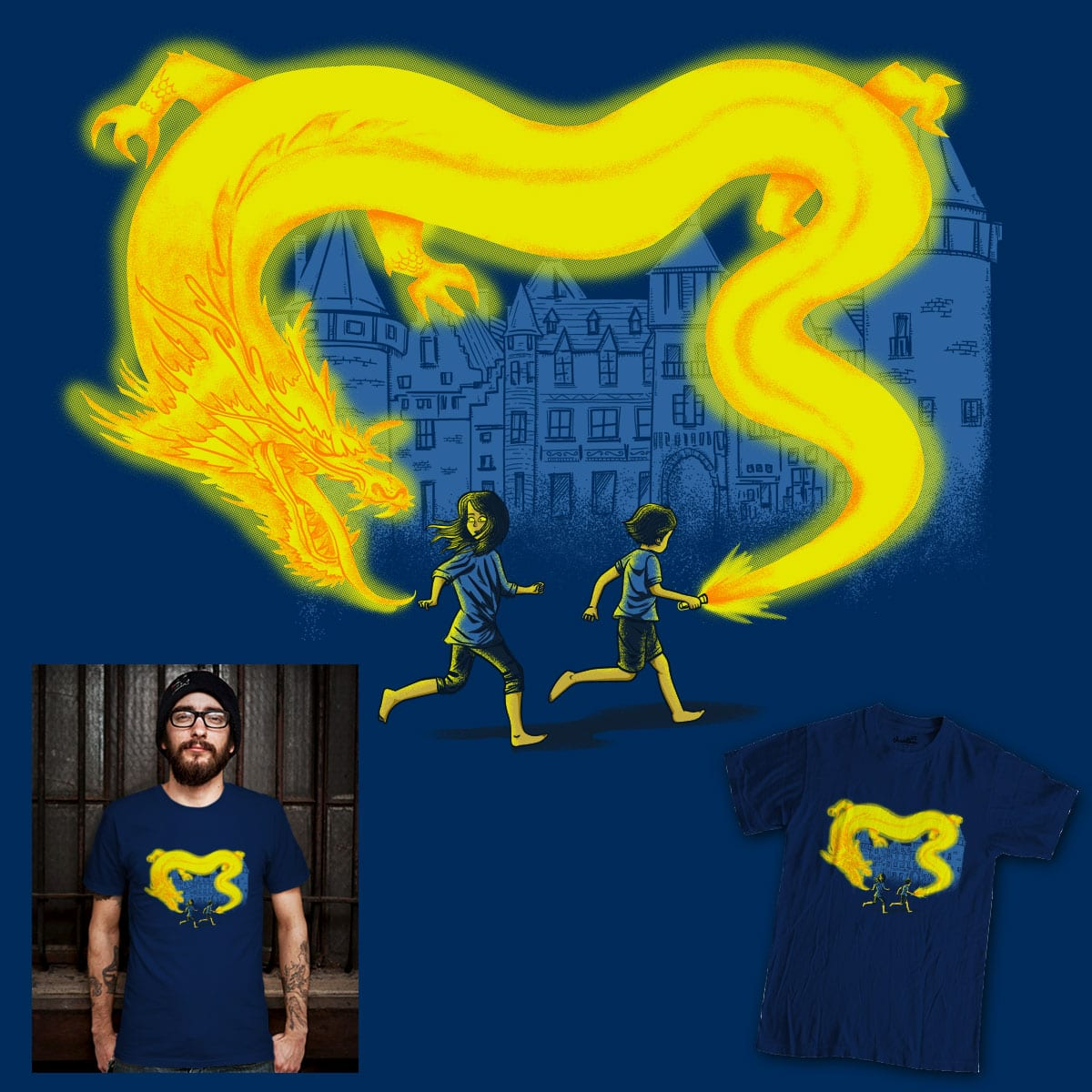 Follow The Lights by eQuivalent and skitchism on Threadless
