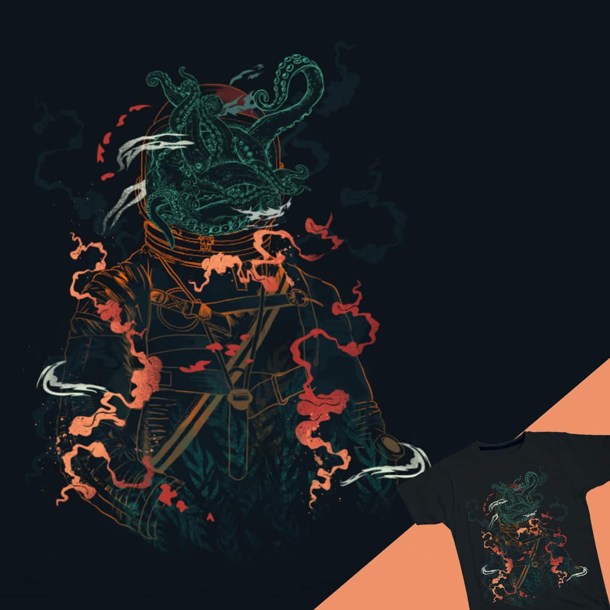Space Diver by dandingeroz on Threadless