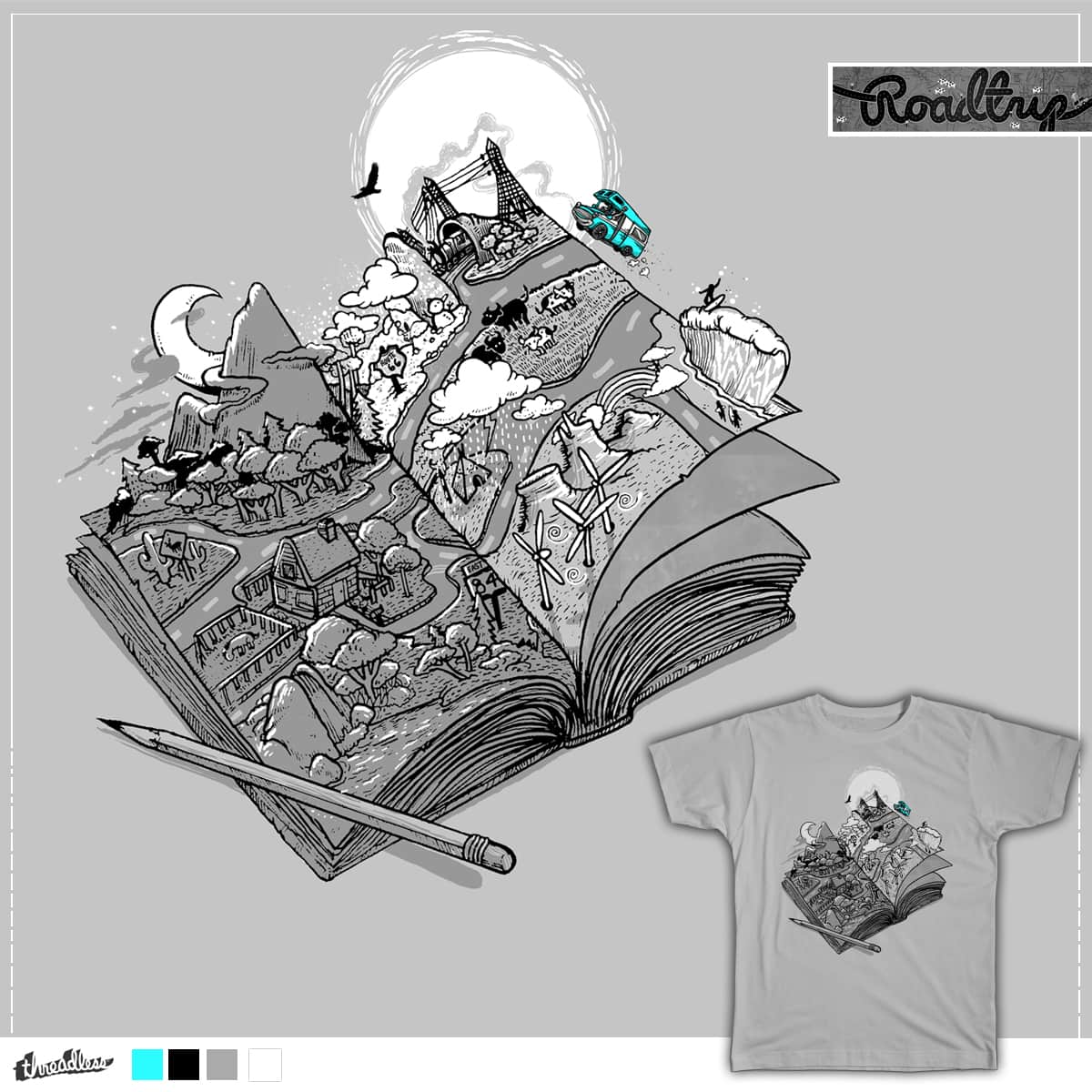 My Road Trip Journal  by anwarrafiee on Threadless