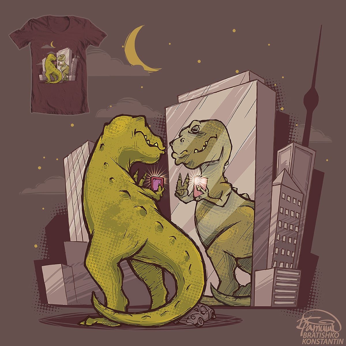T-rex by KONSTANTIN BRATISHKO on Threadless
