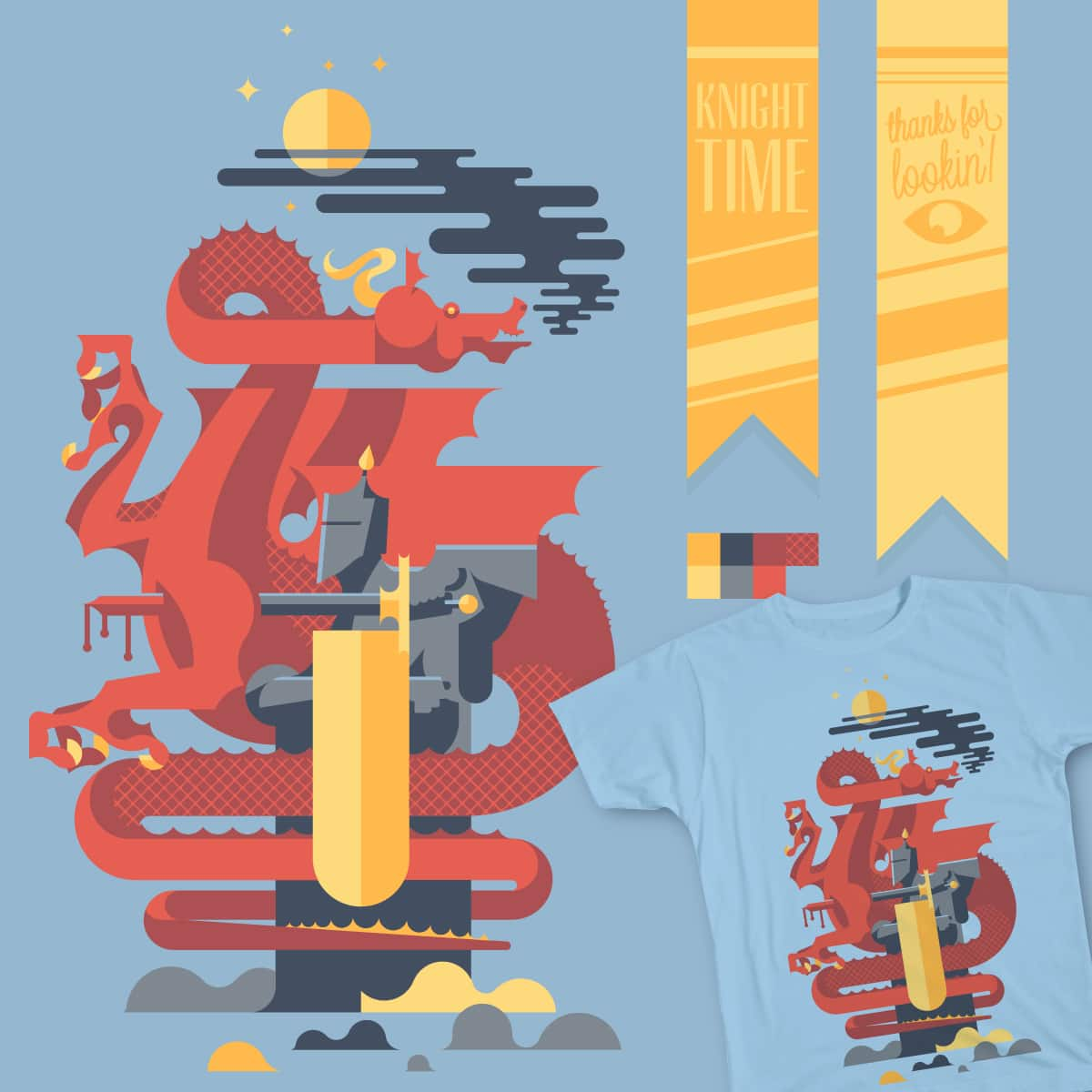 Knight Time by The_Unassociated_Press on Threadless