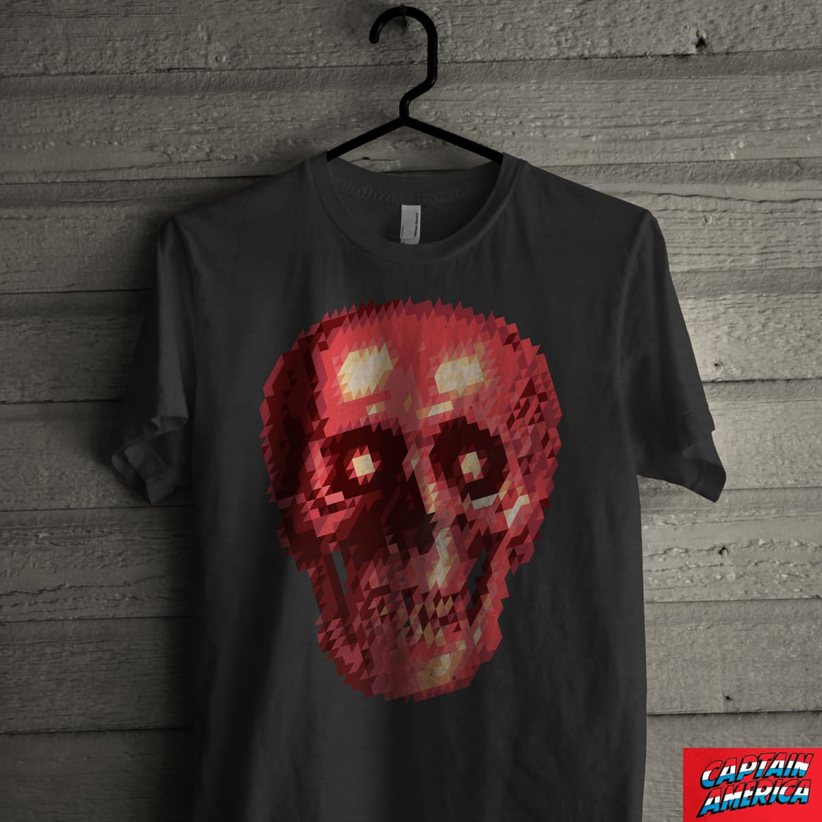 Red Skull Triangles by arzie13 on Threadless