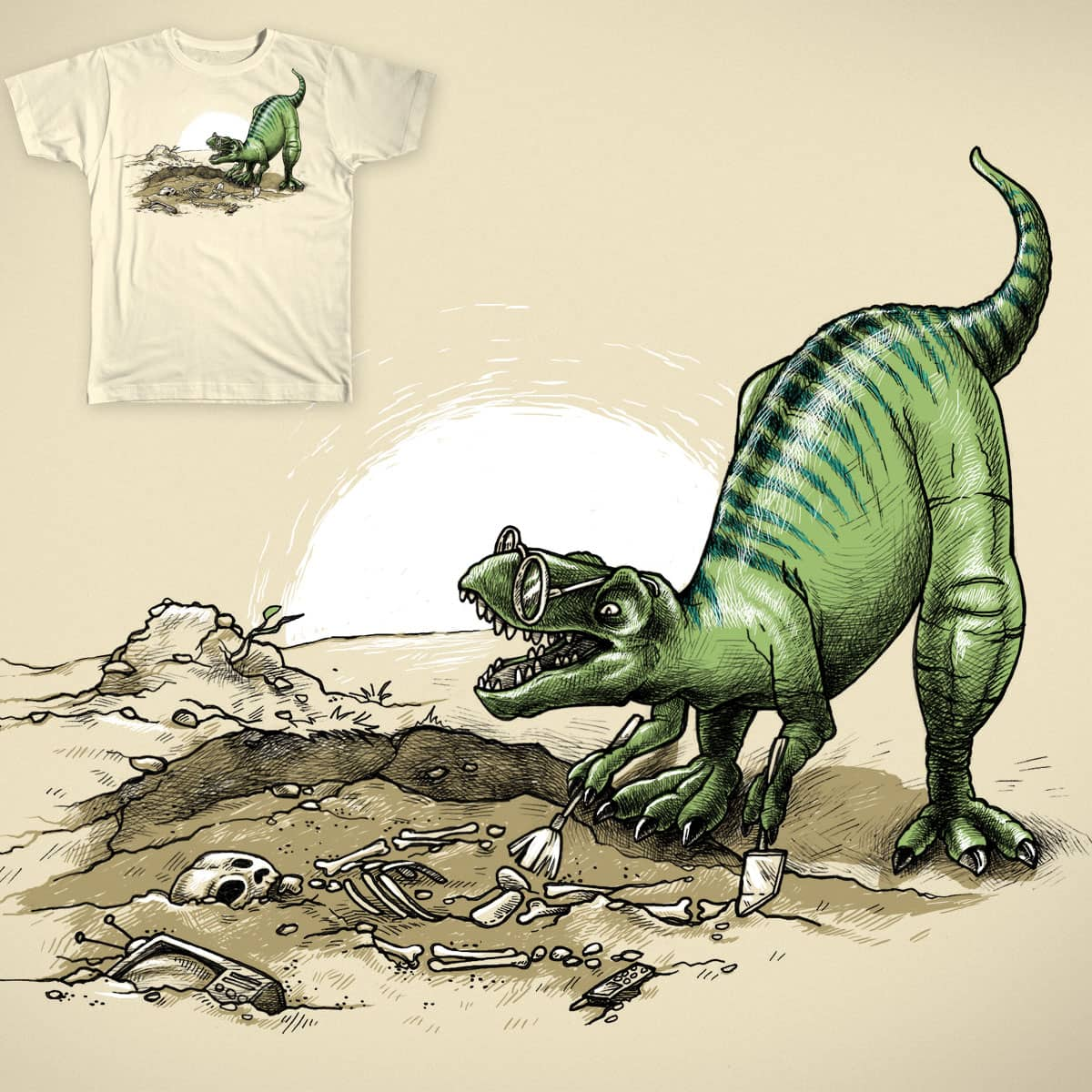 Archeologist by AnnieCarter on Threadless