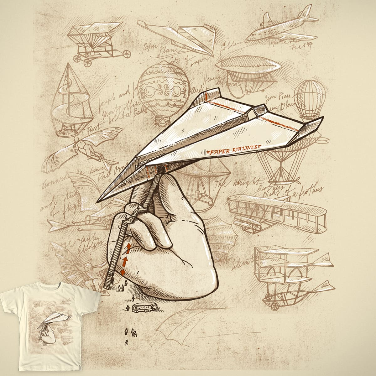 Paper Airlines by AnnieCarter on Threadless