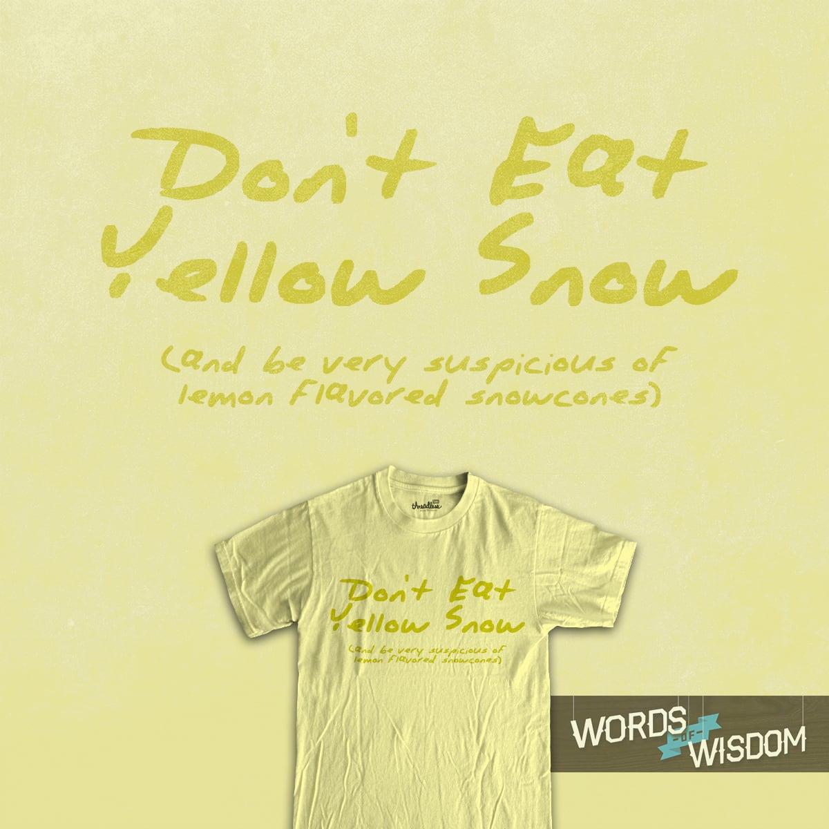 yellow snow by jerbing33 on Threadless