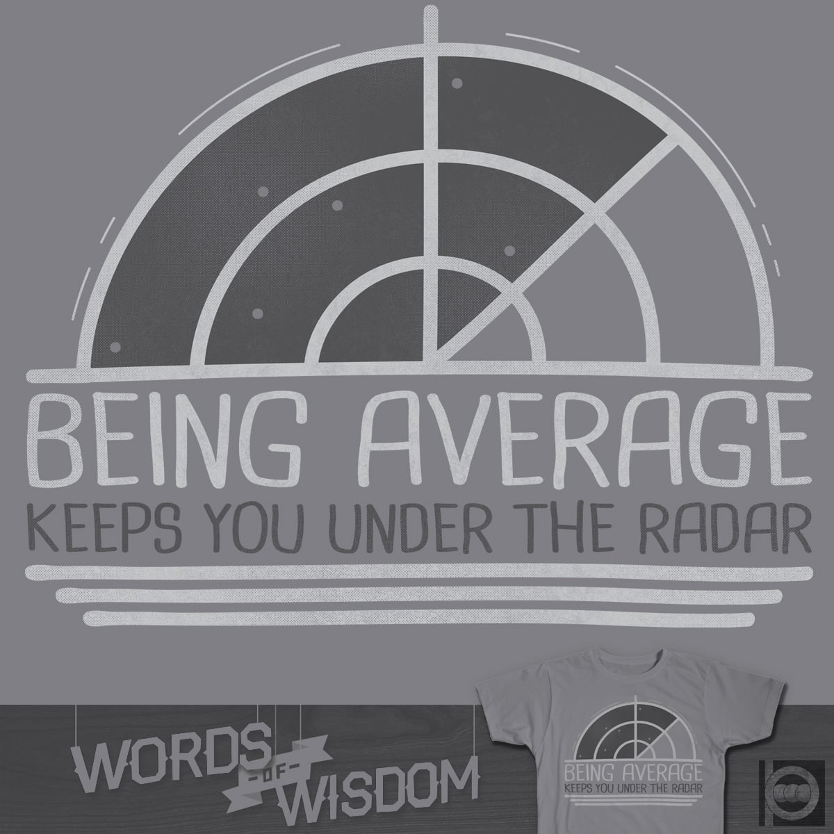 BE AVERAGE by BeanePod on Threadless