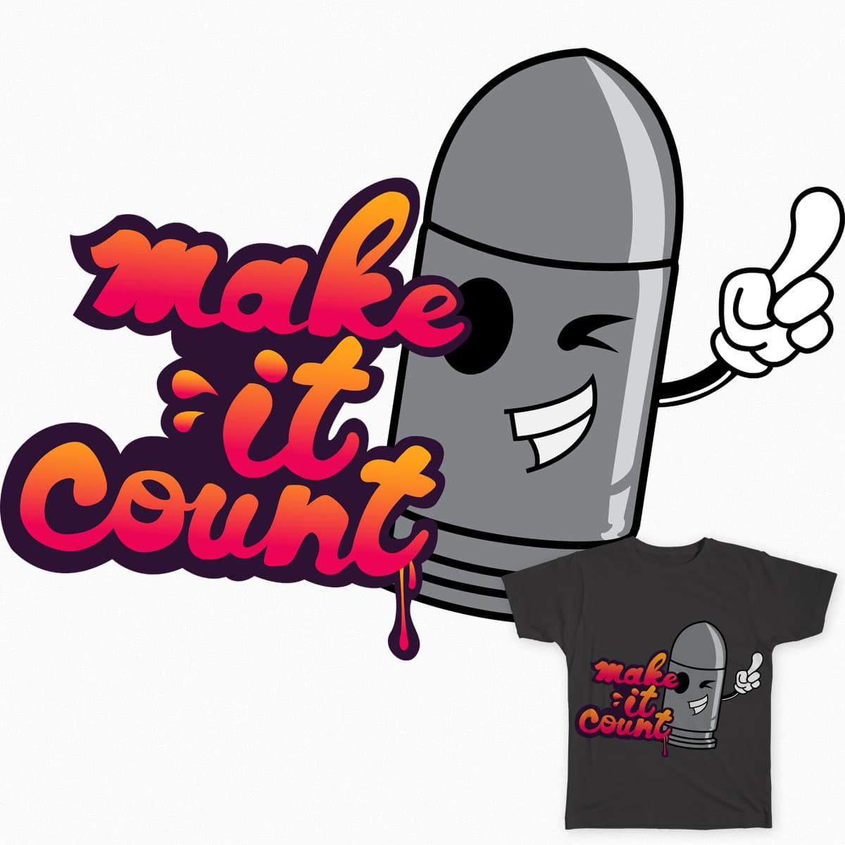 Make It Count by doboshin on Threadless