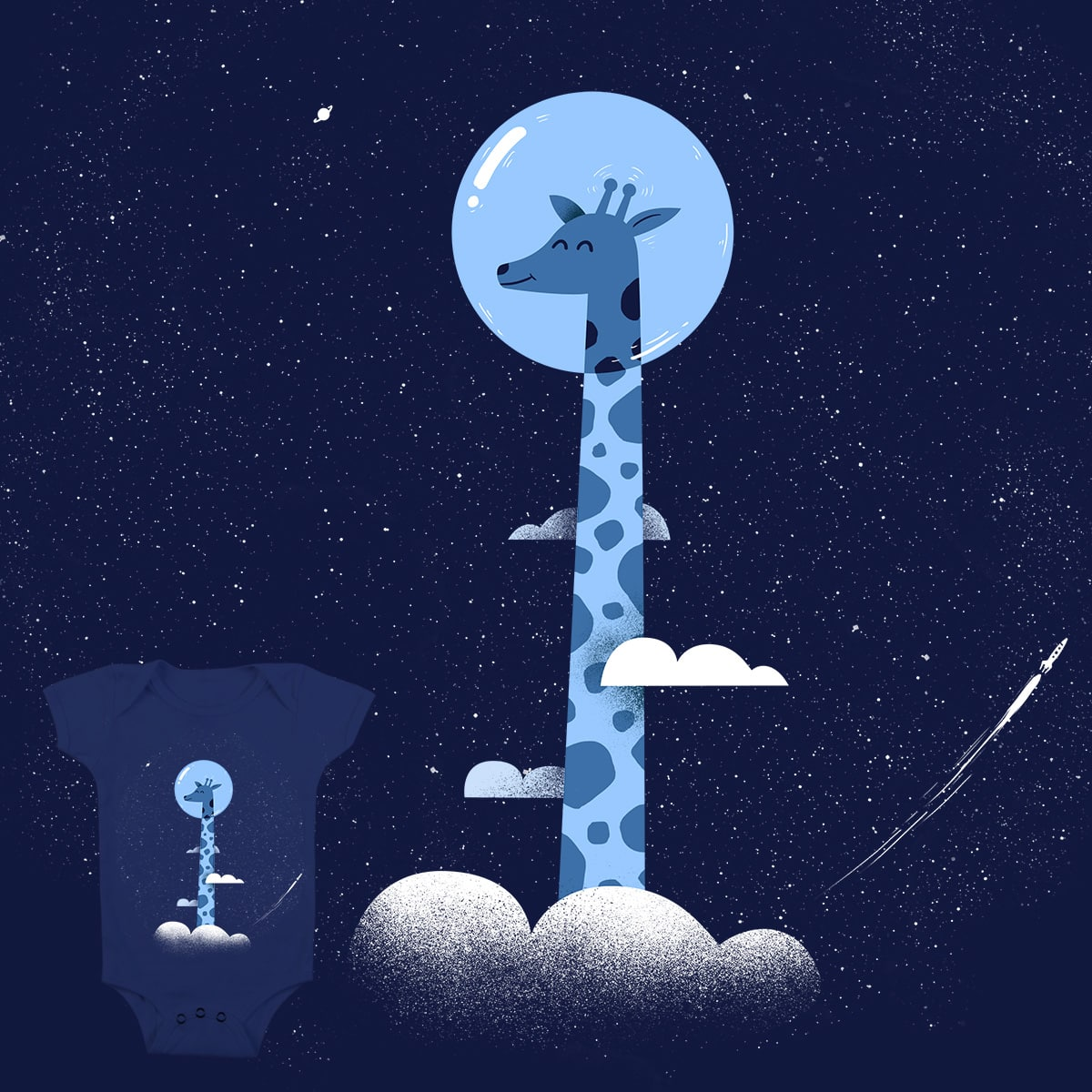 Space Giraffe by Arkzai on Threadless