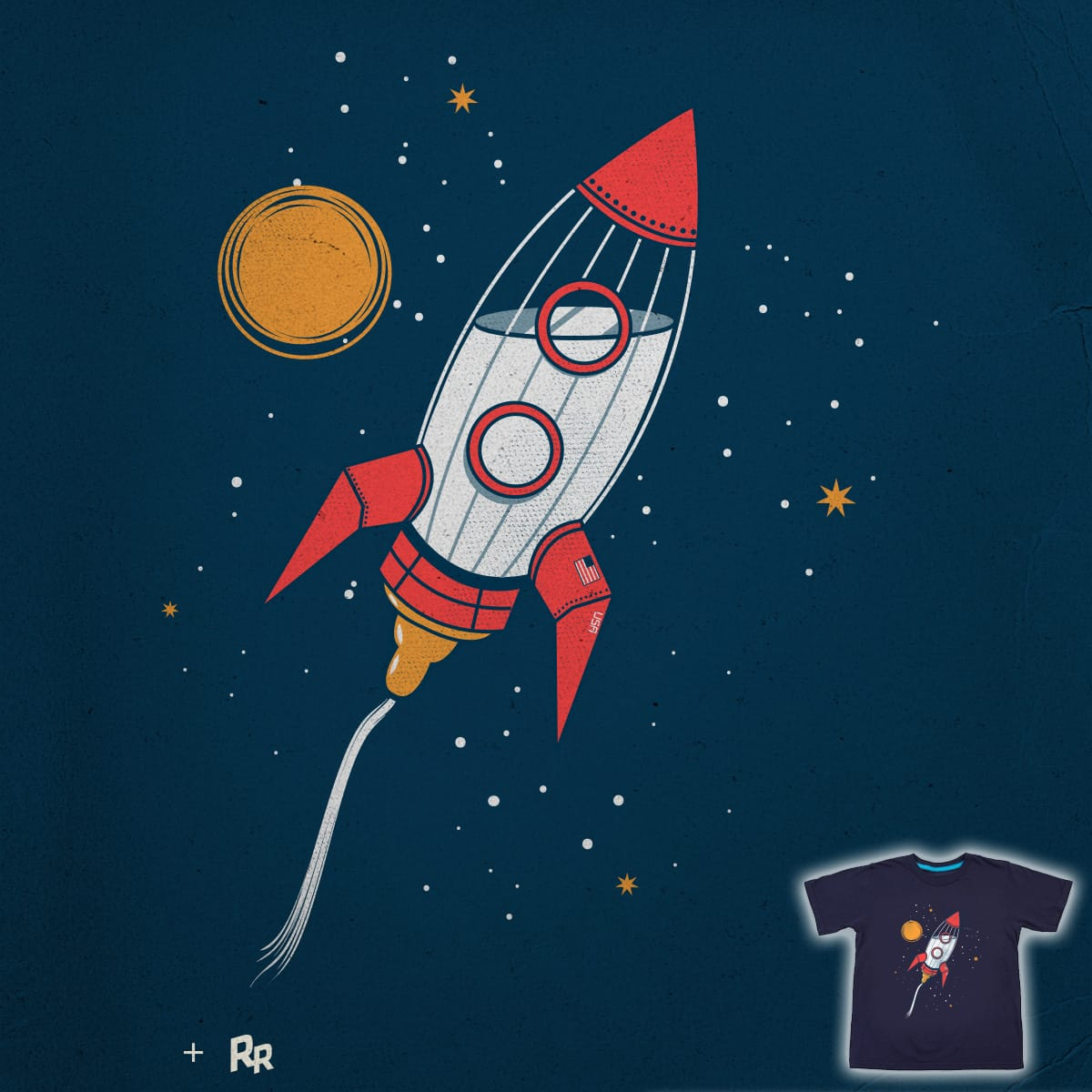 Bottle Rocket to the Milky Way by Ryder on Threadless