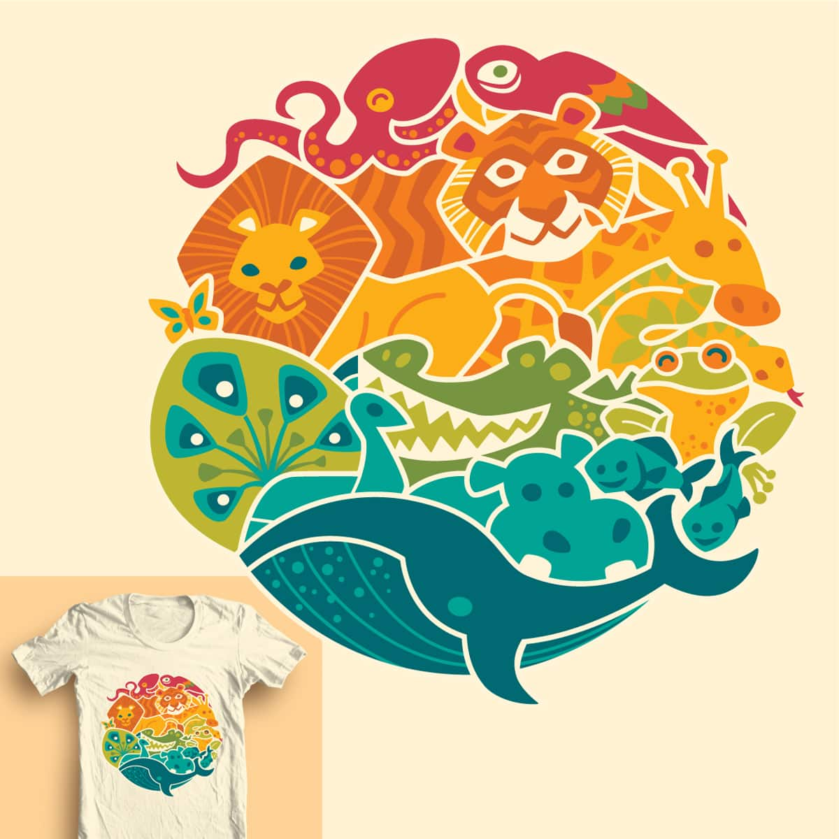 Animal Rainbow by waynem on Threadless