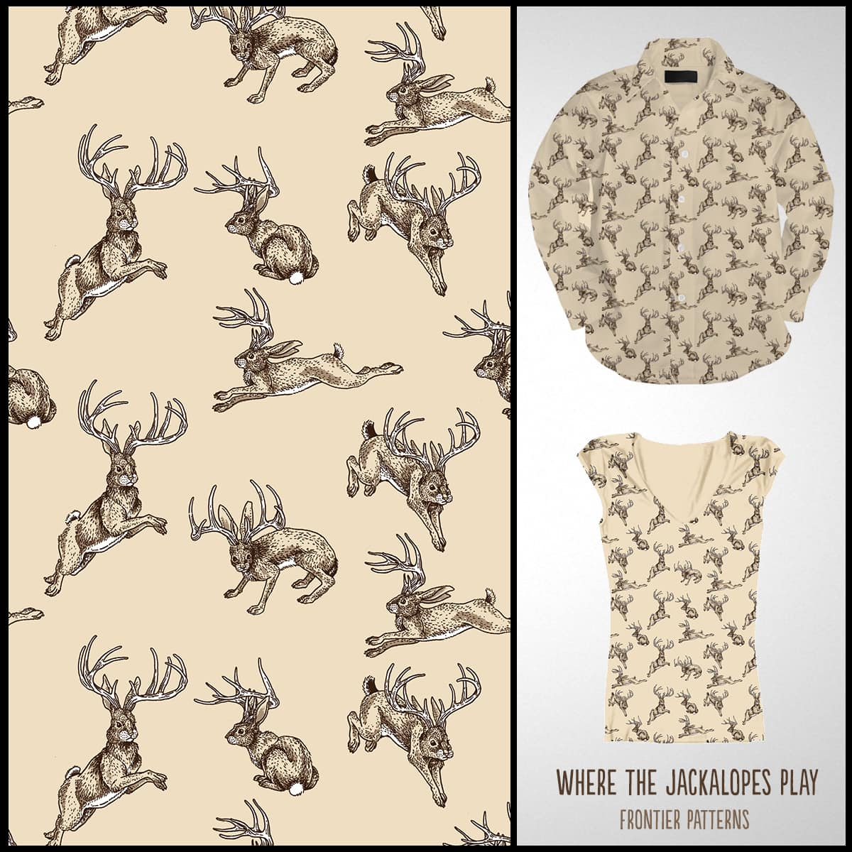 Where the Jackalopes Play by ThisMightHurt on Threadless
