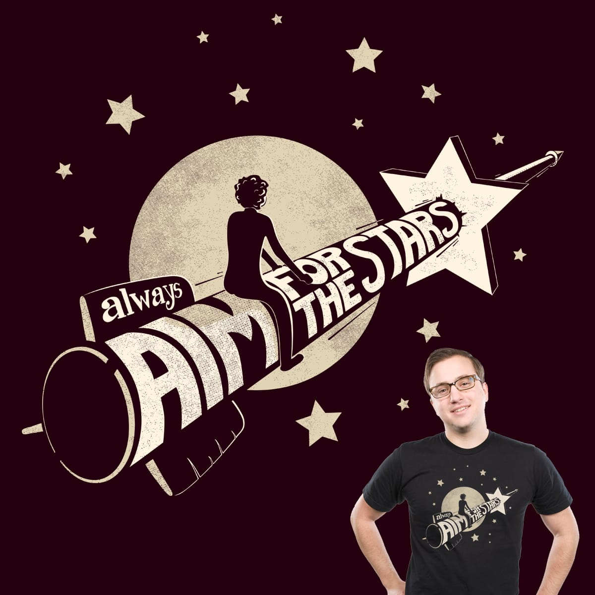 Aim for the Stars by snoopy1973 on Threadless