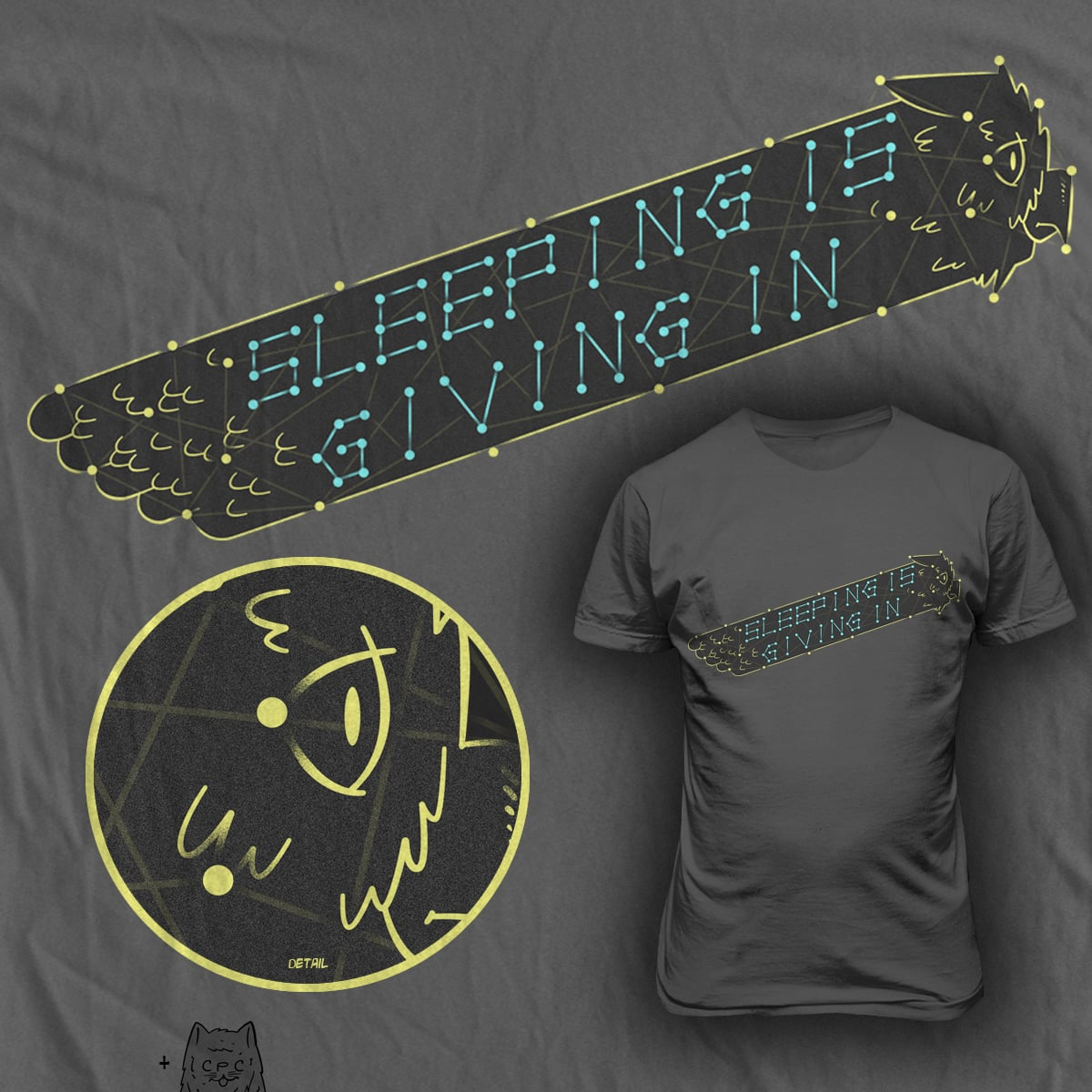 sleeping is giving in  by chuckpcomics on Threadless
