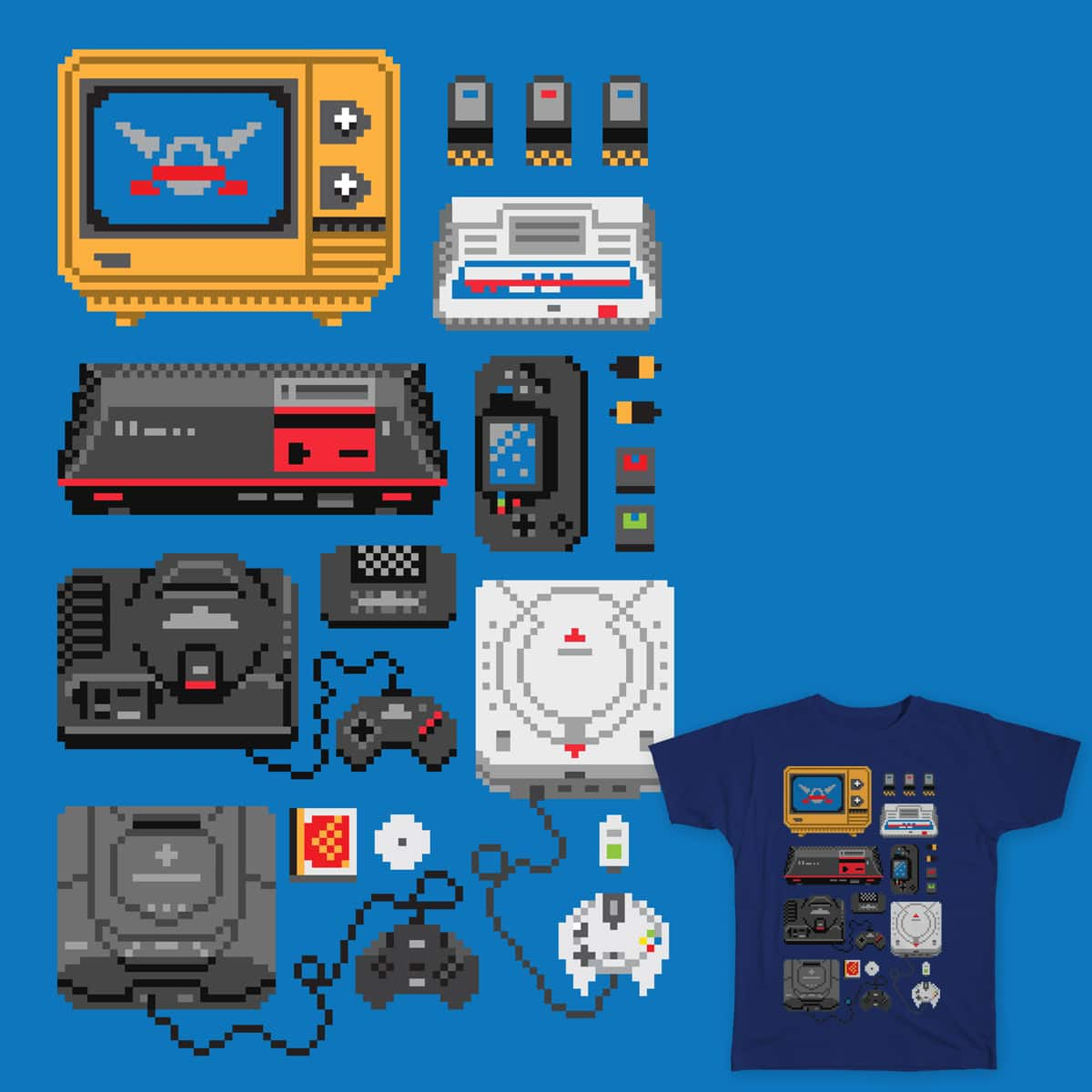 Service Games History by Melee_Ninja on Threadless