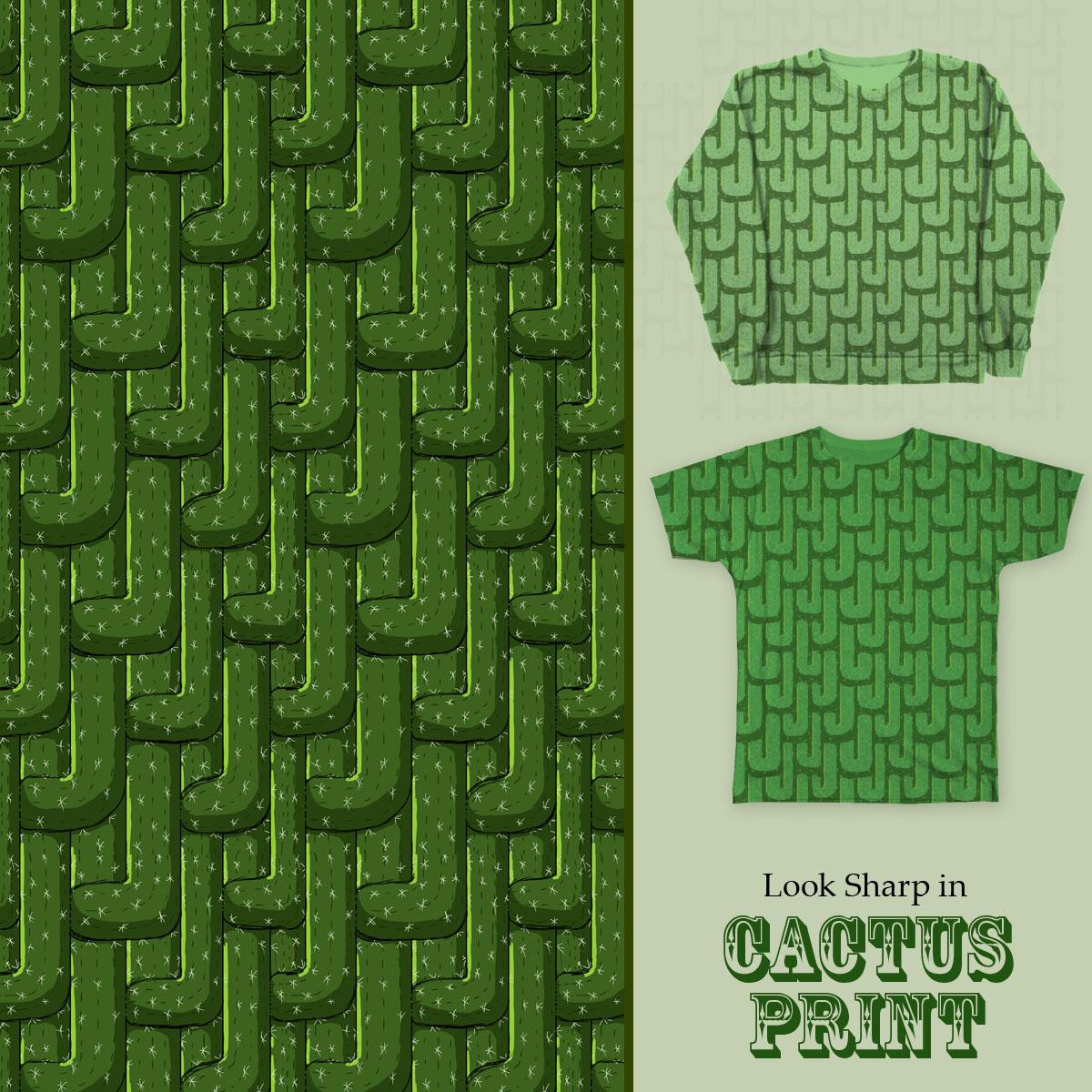 Cactus Print by squidinkdesign on Threadless