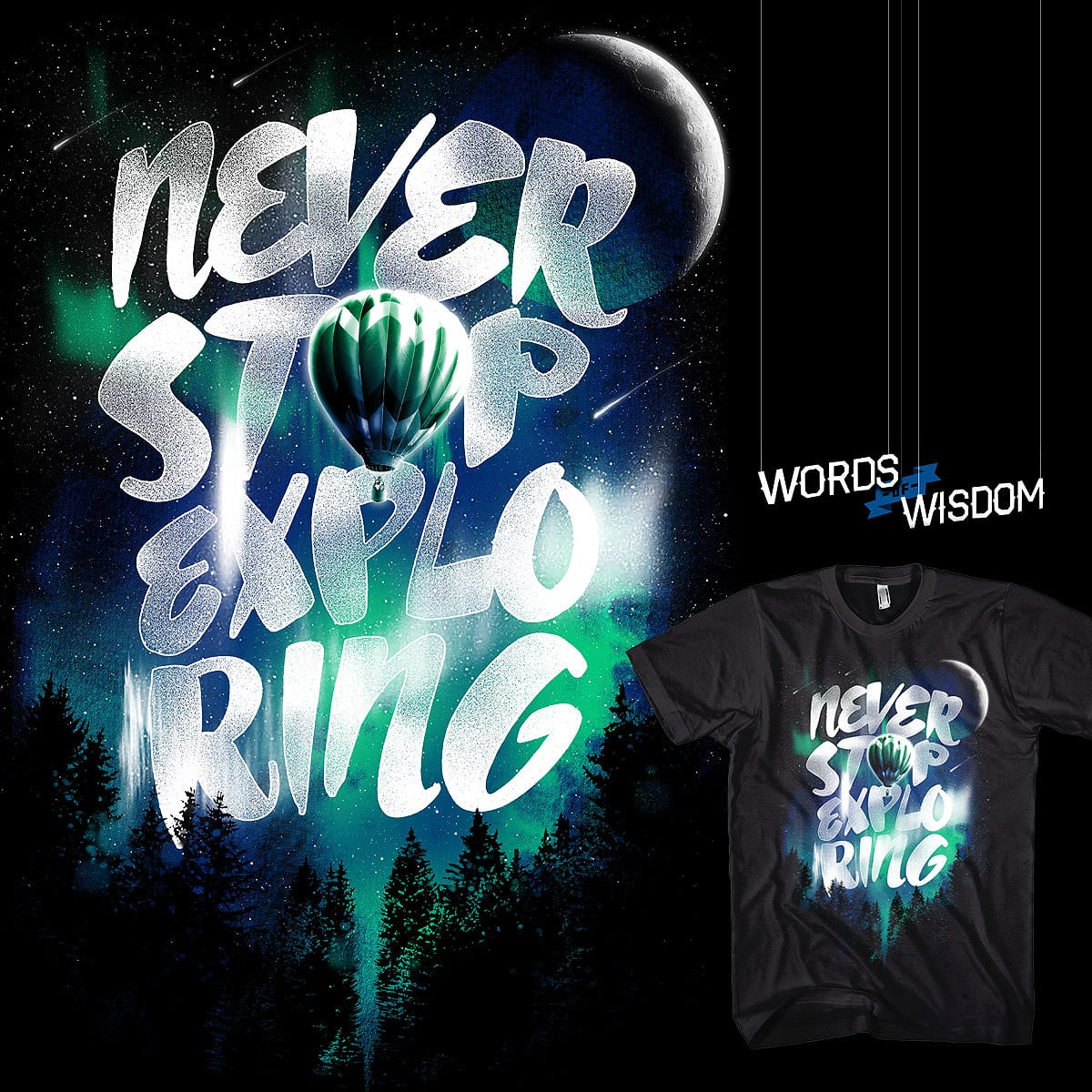 NEVER STOP EXPLORING by dzeri29 on Threadless