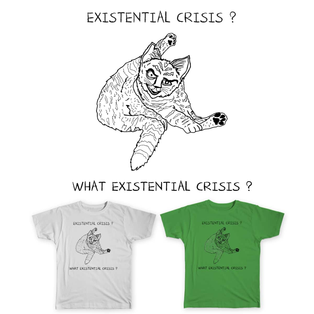 EXISTENTIAL CRISIS? by ronemahone on Threadless
