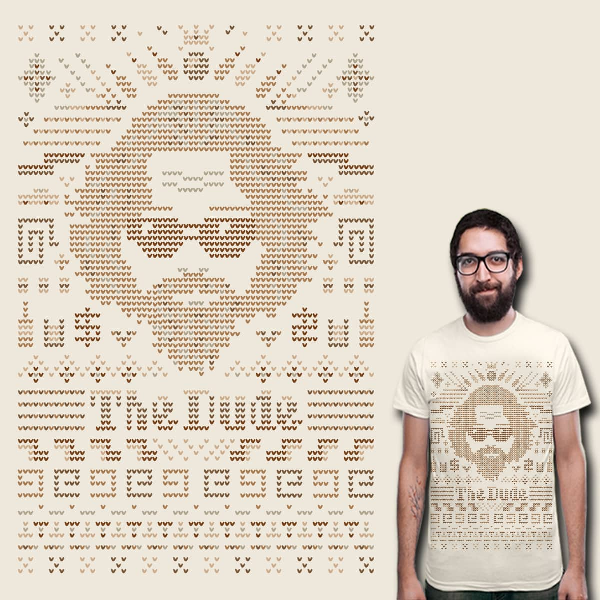 Knitted Dude by Leo Canham on Threadless